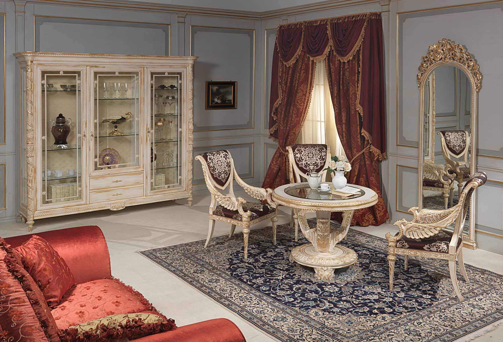 living room louis xvi style