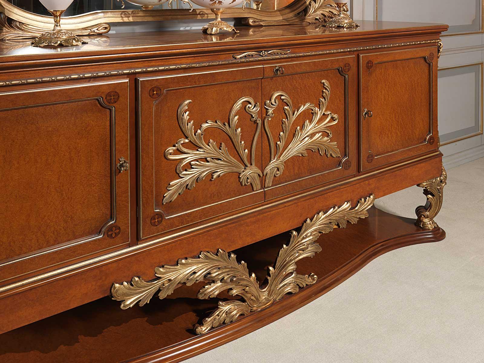 Versailles Sideboard In Louis Xvi Style Carvings Vimercati Classic Furniture