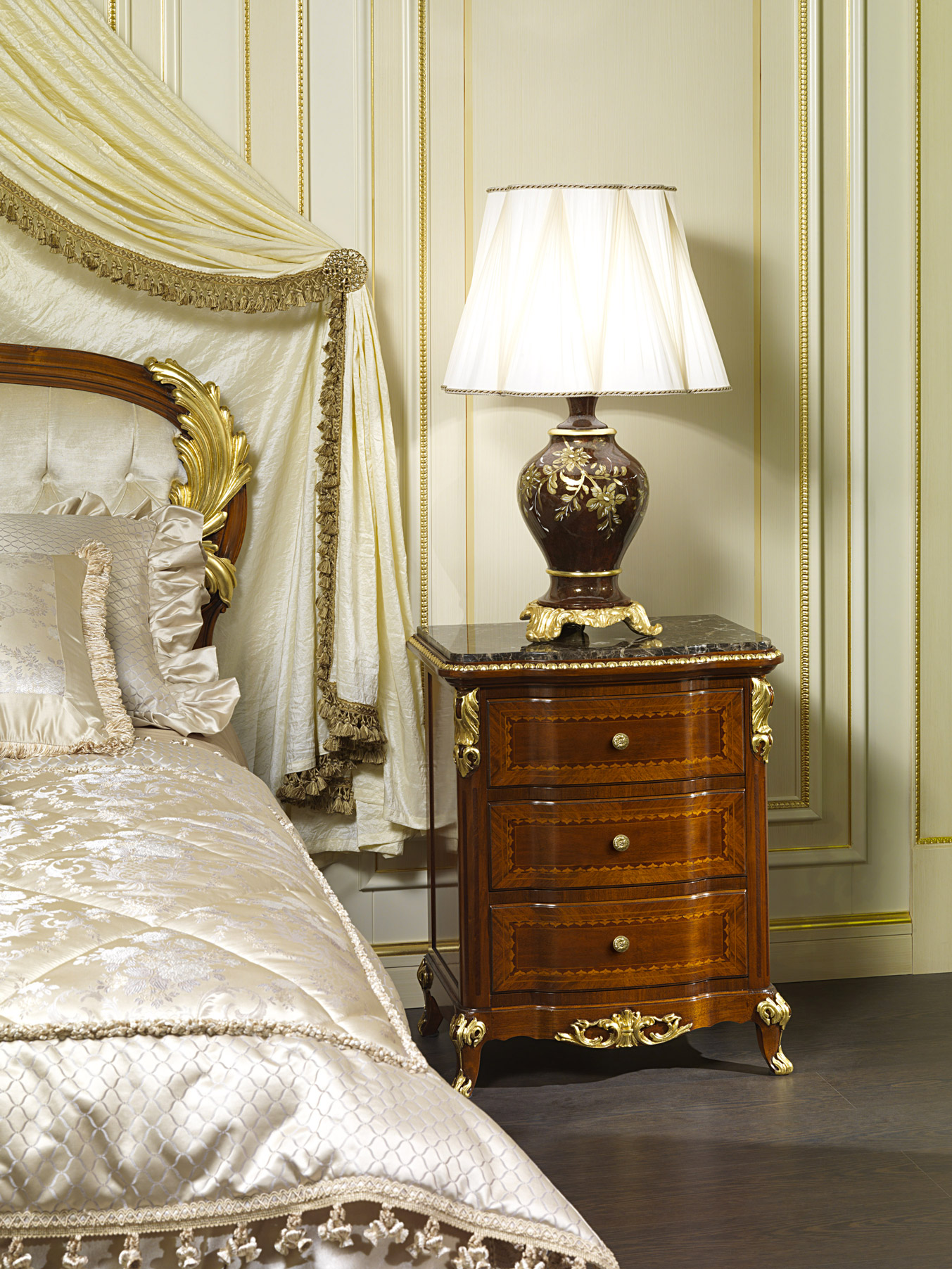 Classic Bedside Table Luxury Collection Louis Xv France