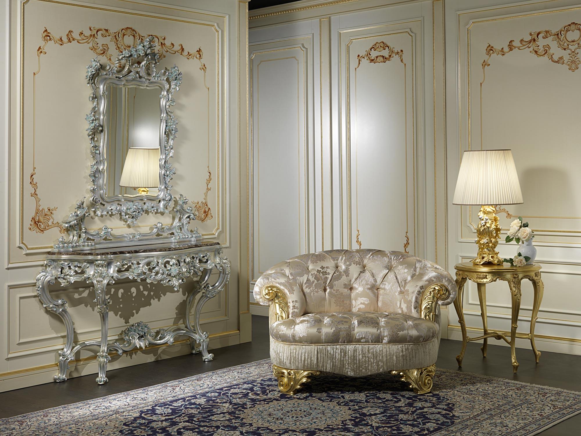 Classic Armchair Living Room Paris Vimercati Classic