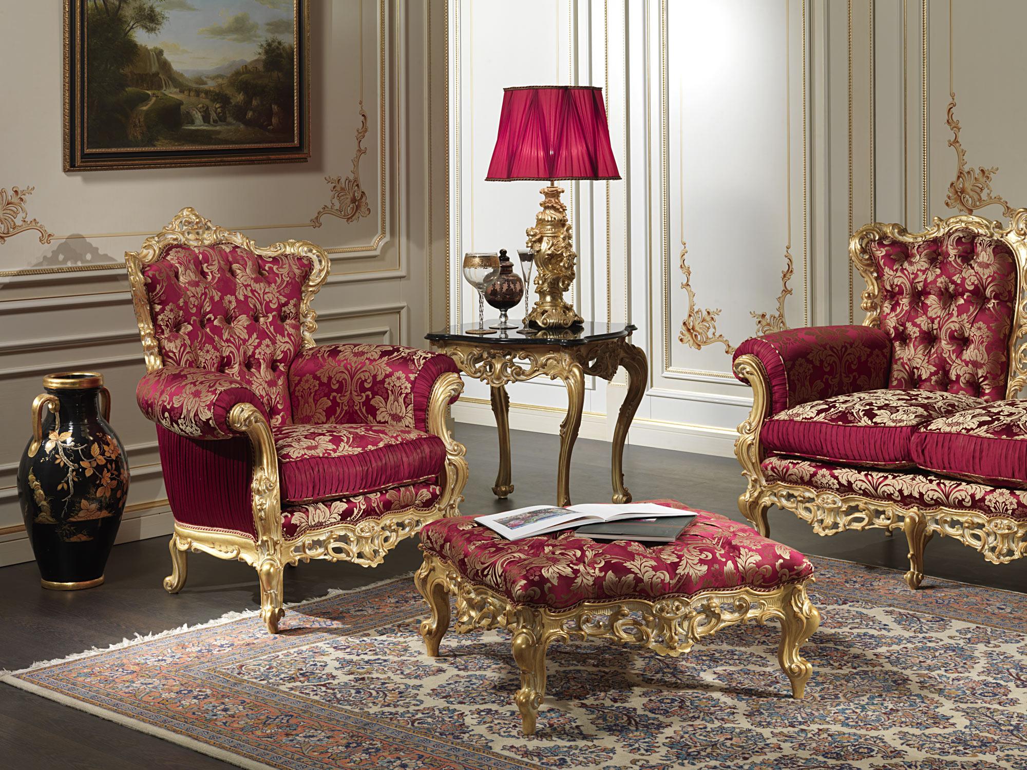 Baroque armchair of the collection living room barocco for Divano barocco