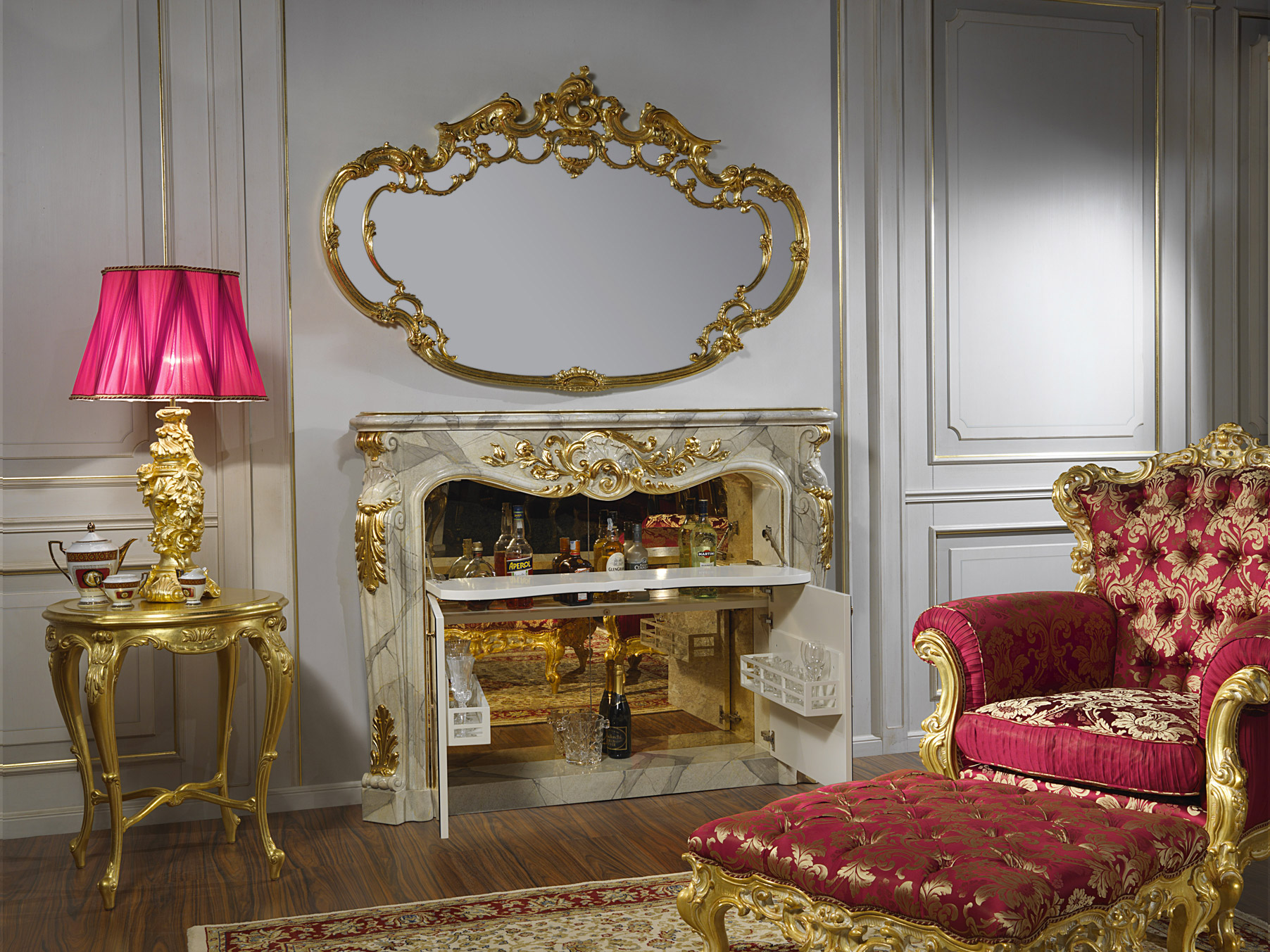 Fireplace And Bar For Living Room Baroque Vimercati