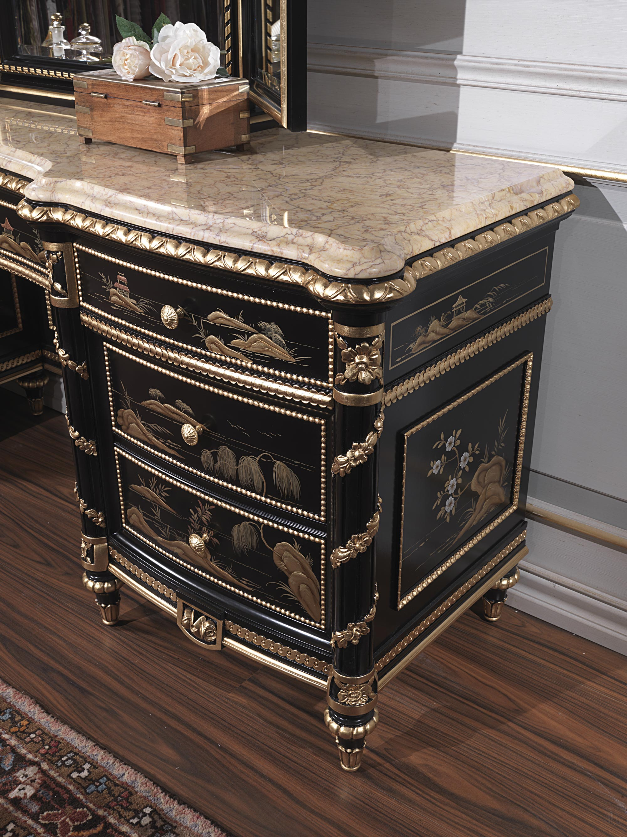 Classic Dressing Table Made In Italy Chinoiserie