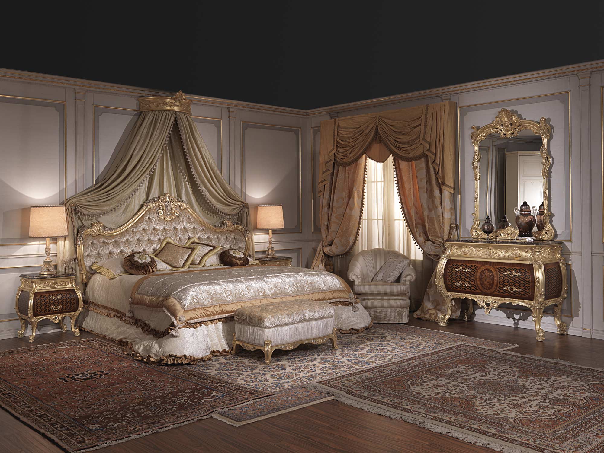 Furniture For Luxury Bedroom Emperador Gold Art 397 931