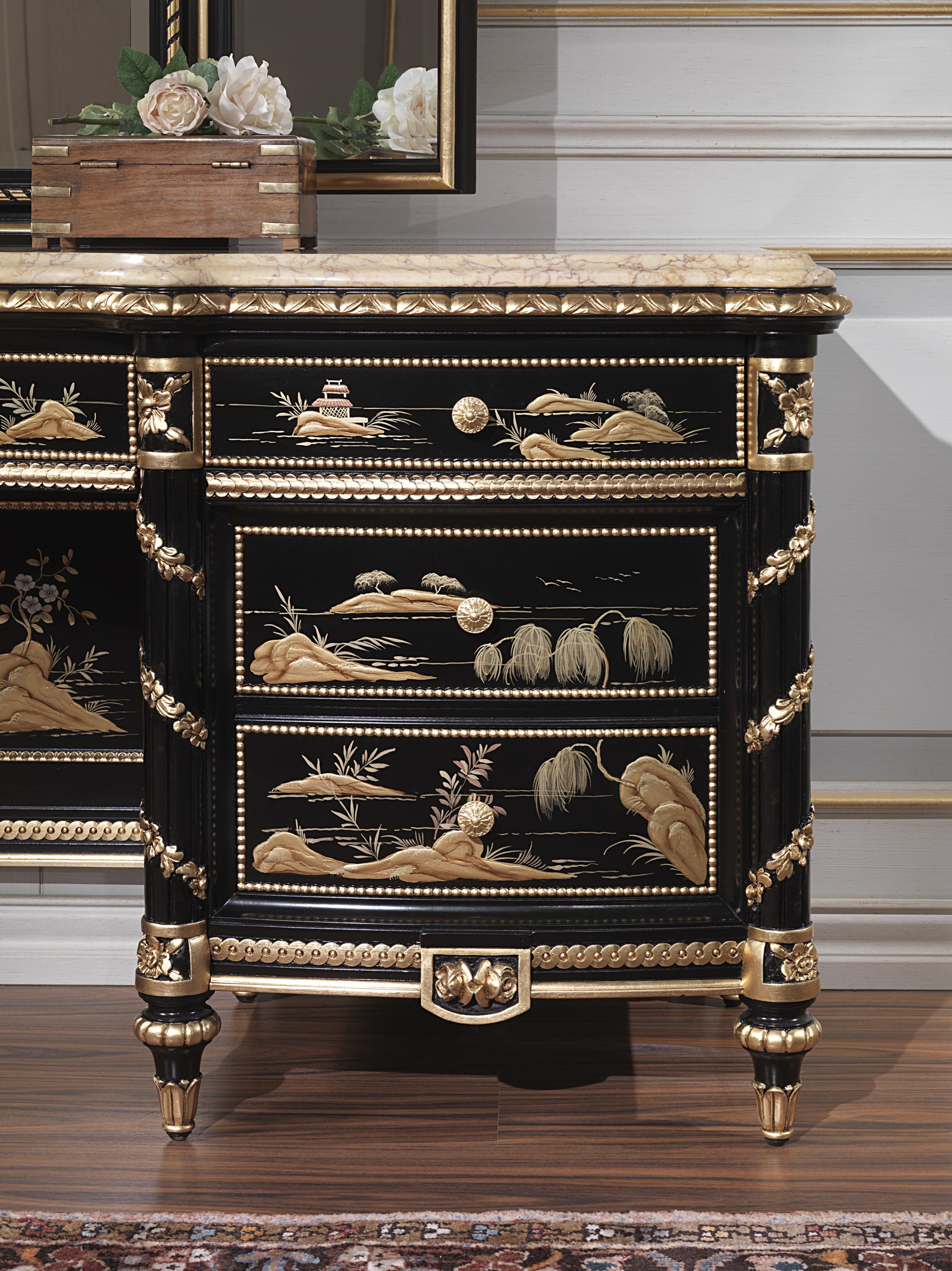 Luxury Dressing Table Chinoiserie Collection Vimercati