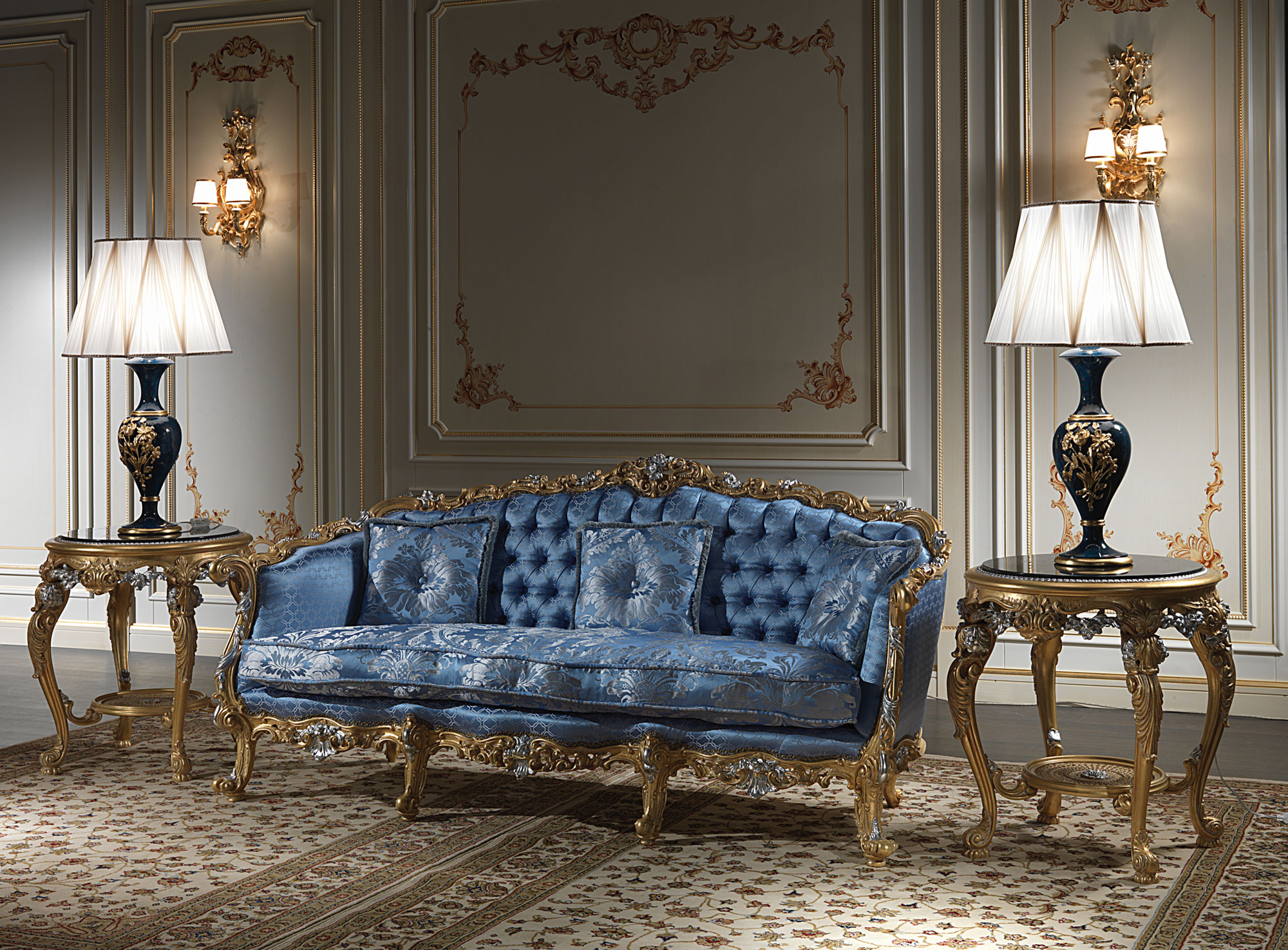 Luxury sofa living room eighteenth century se 303 for Arredamento veneziano
