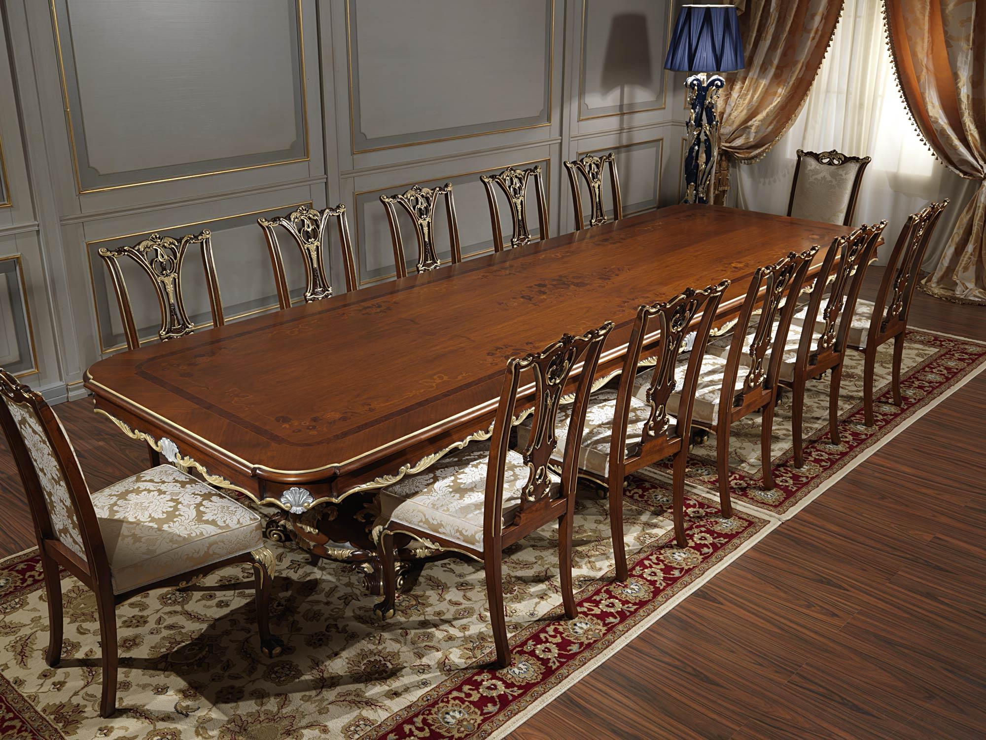 Classic table living room in louis xv style vimercati classic furniture - Tavoli da pranzo classici ...