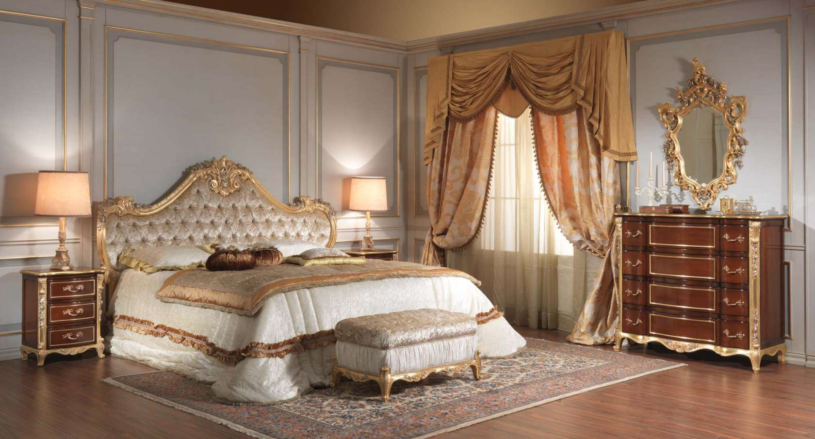 Classic italian 18th century bedroom vimercati classic for Ancient roman interior decoration