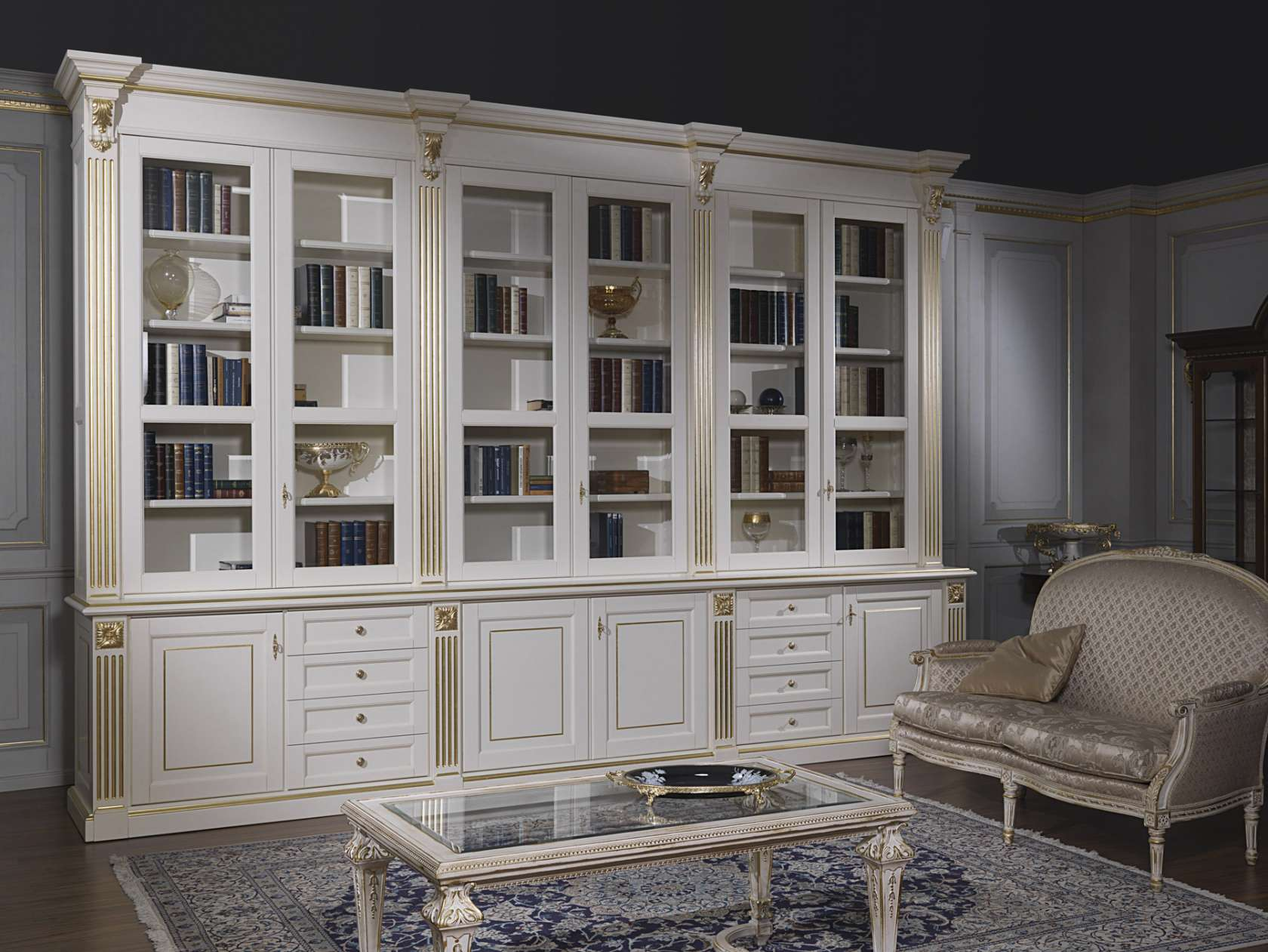 Mobili per soggiorno classico art.2009 | Vimercati Classic ...