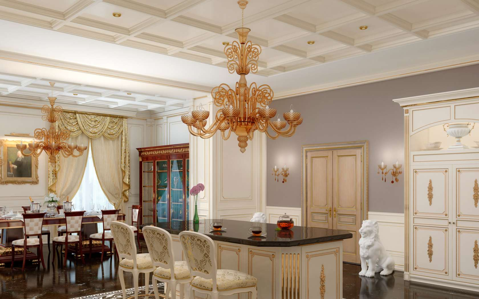 Cucina su misura di lusso Olga | Vimercati Classic Furniture