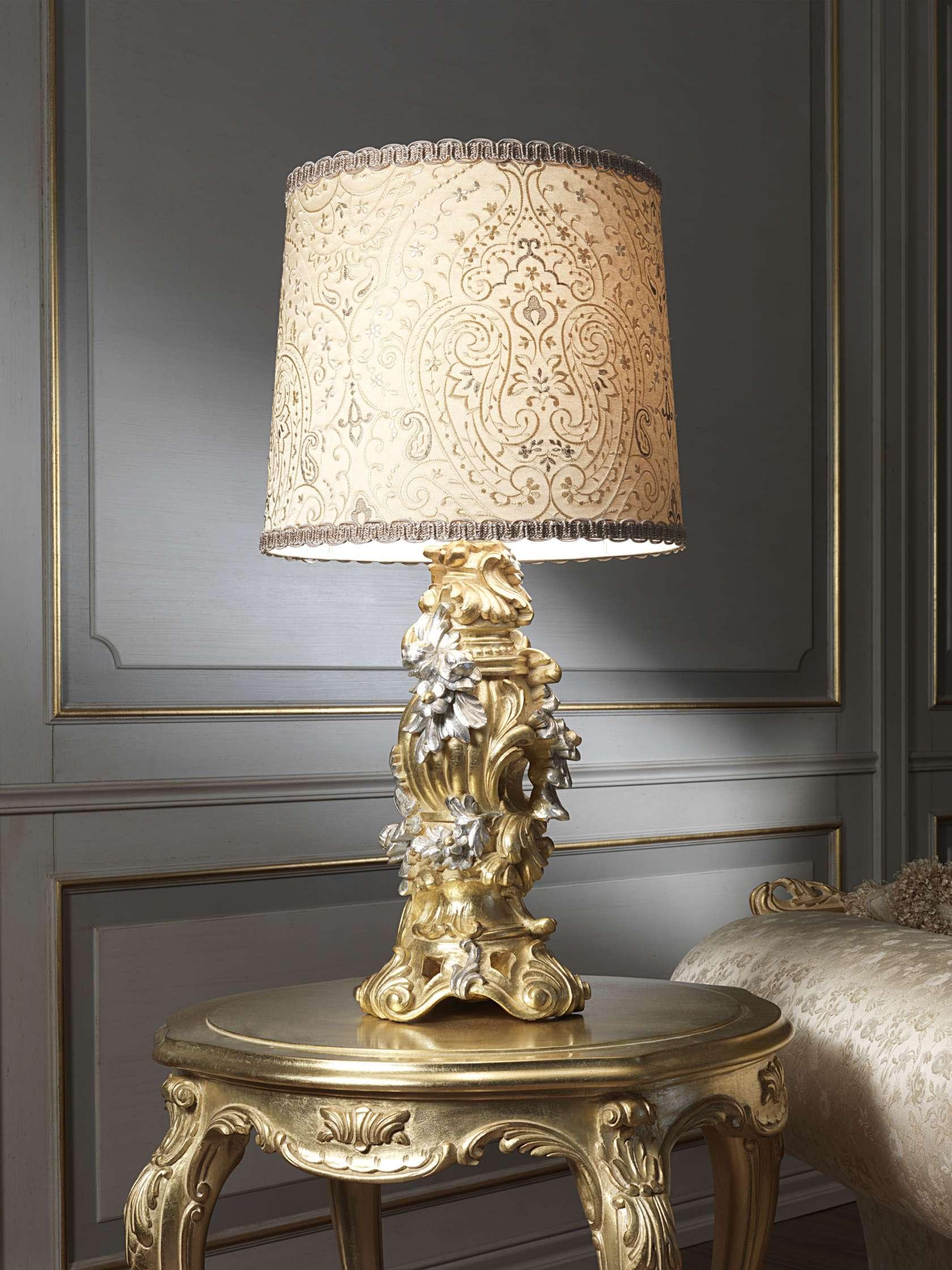 Classic Lamp In Gold Leaf Vimercati Classic Furniture