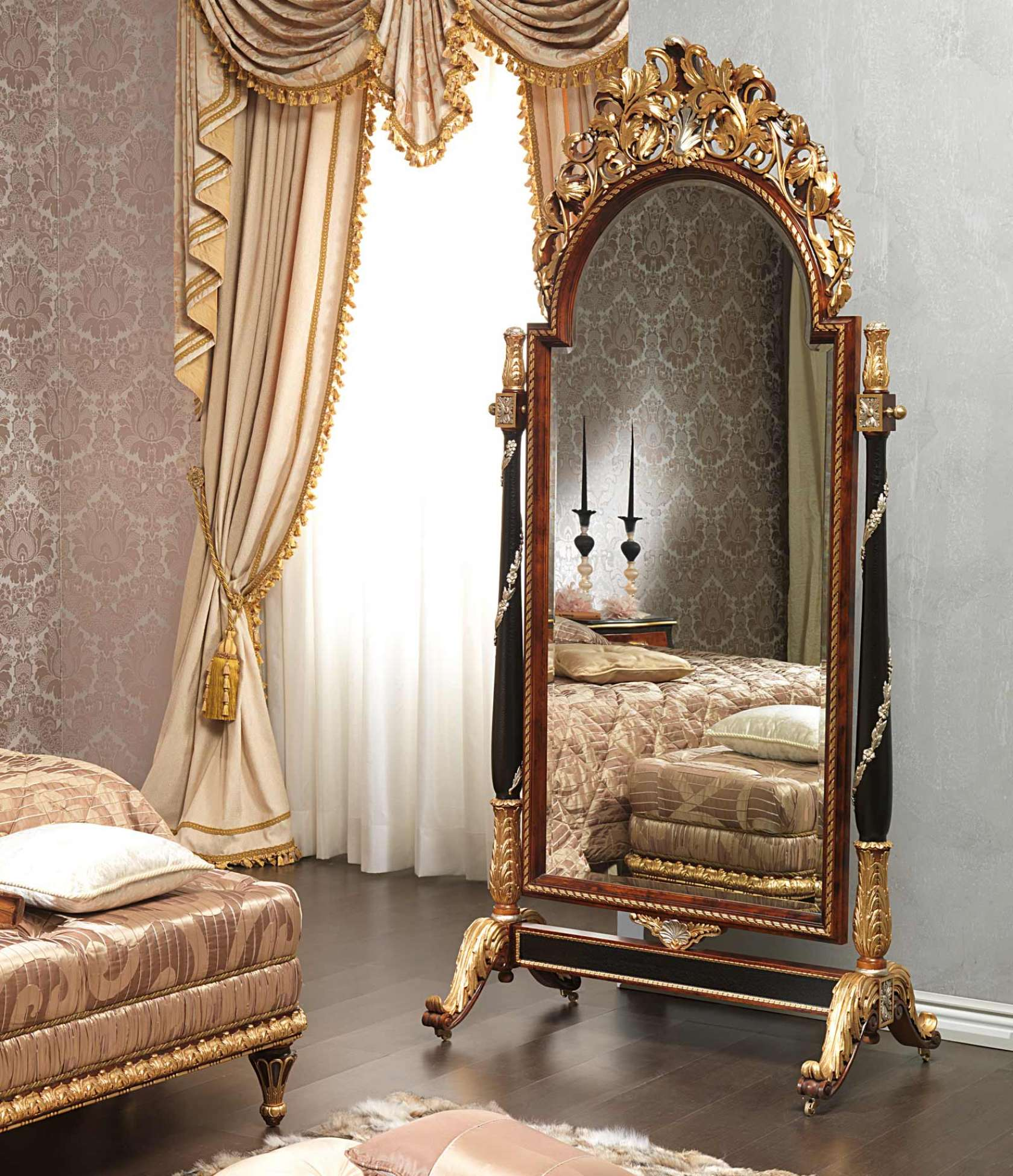 f190667f7add Classic Emperador Black in LouisXV style bedroom