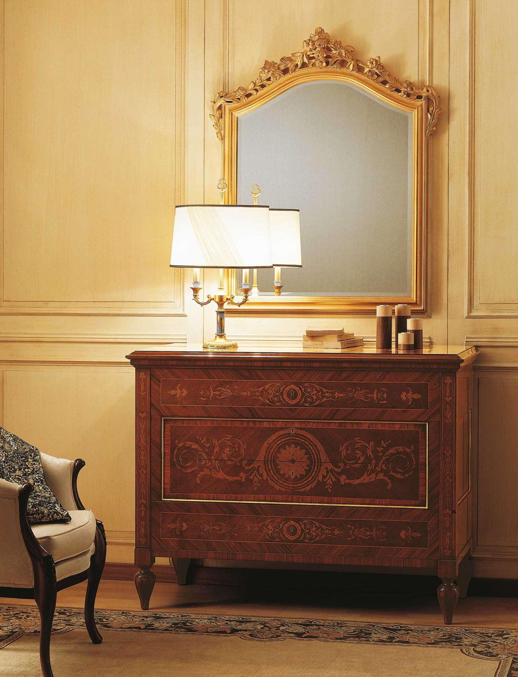 Chambre coucher classique maggiolini commode marquet e - Commode chambre a coucher ...
