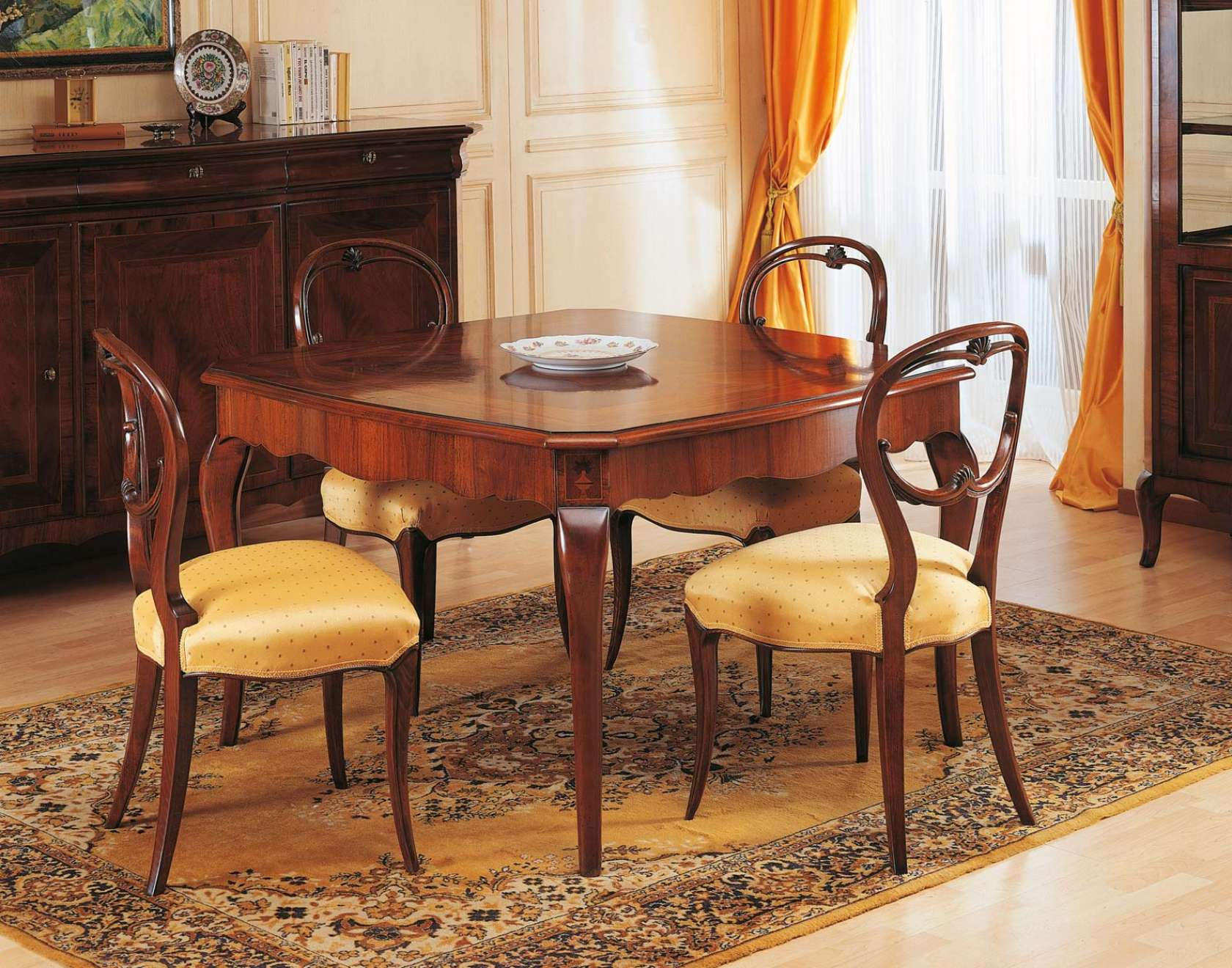 Walnut Table In 19th Century Style