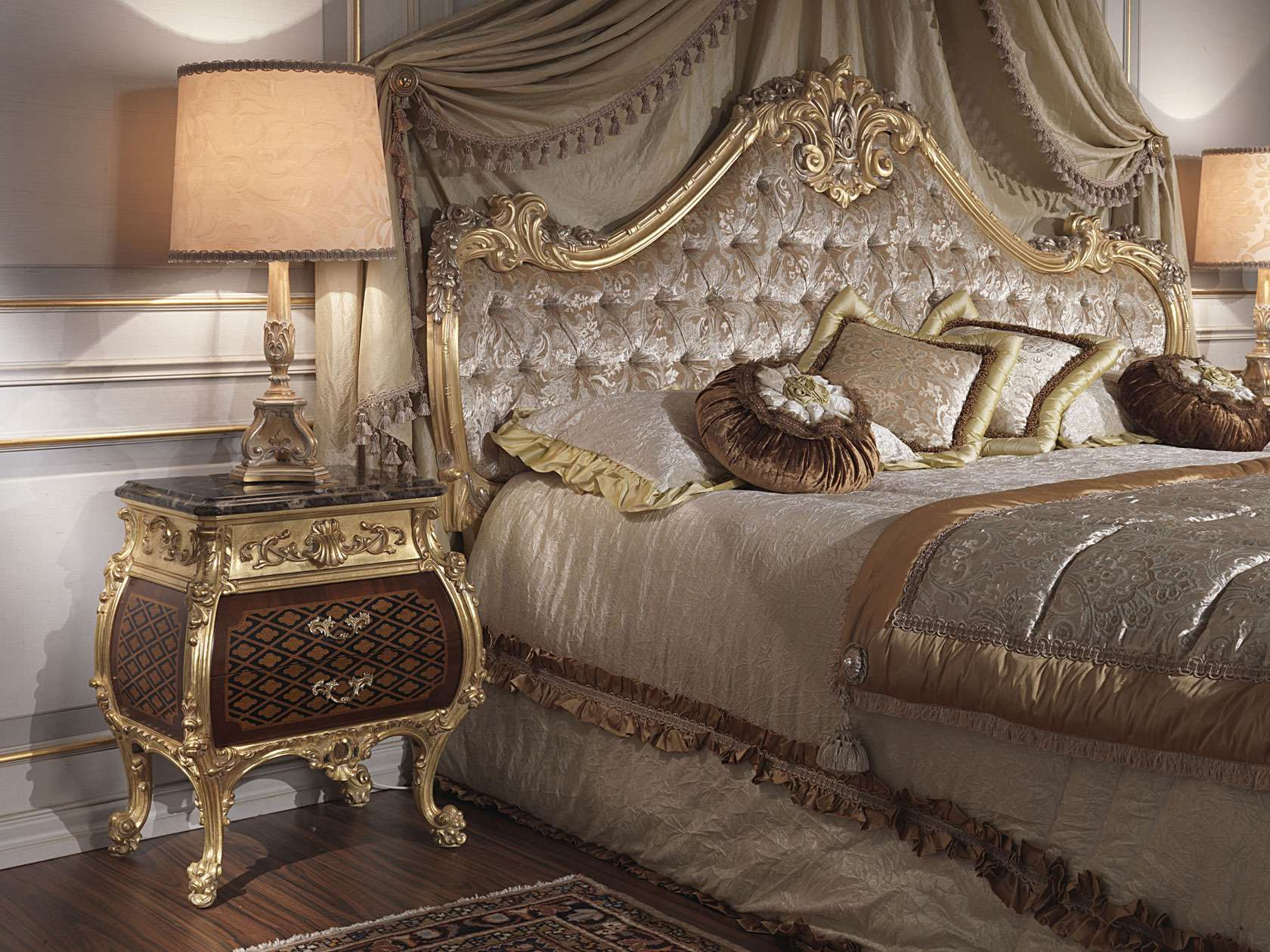 Classic bedroom italian th century and louis xv bed