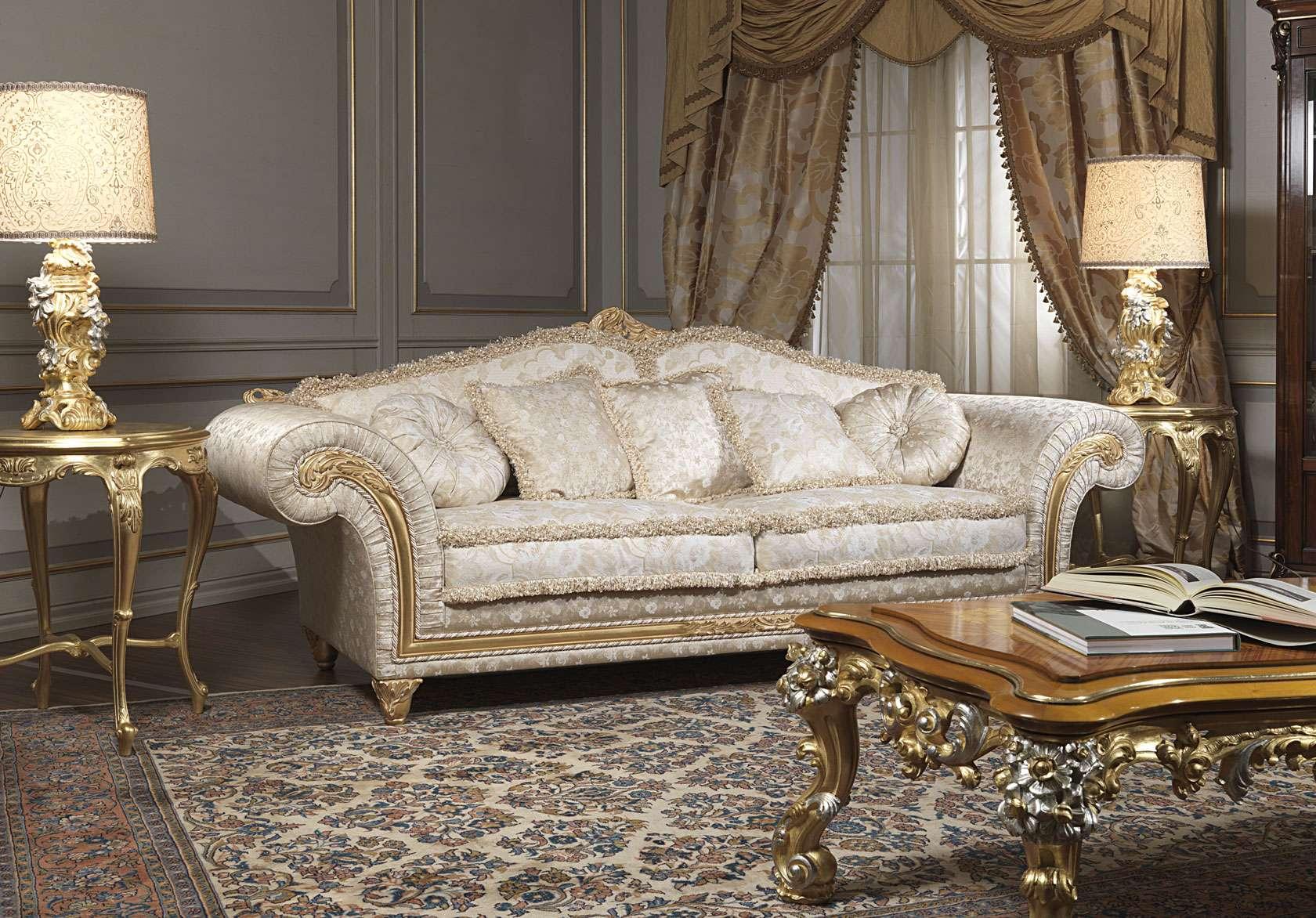 Canapé Classique Imperial Avec Table Gravée Vimercati Classic - Canapé classique