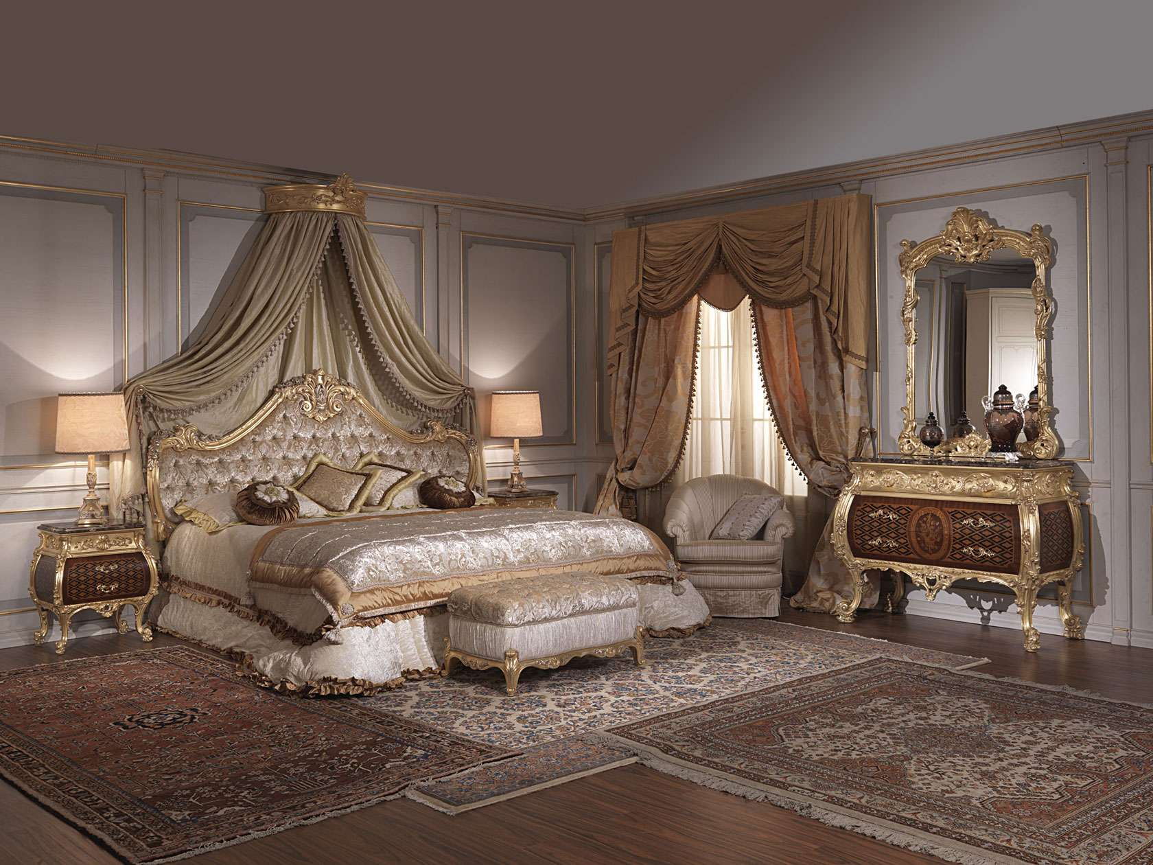 Classic italian bedroom 18th century and Louis XV | Vimercati ...