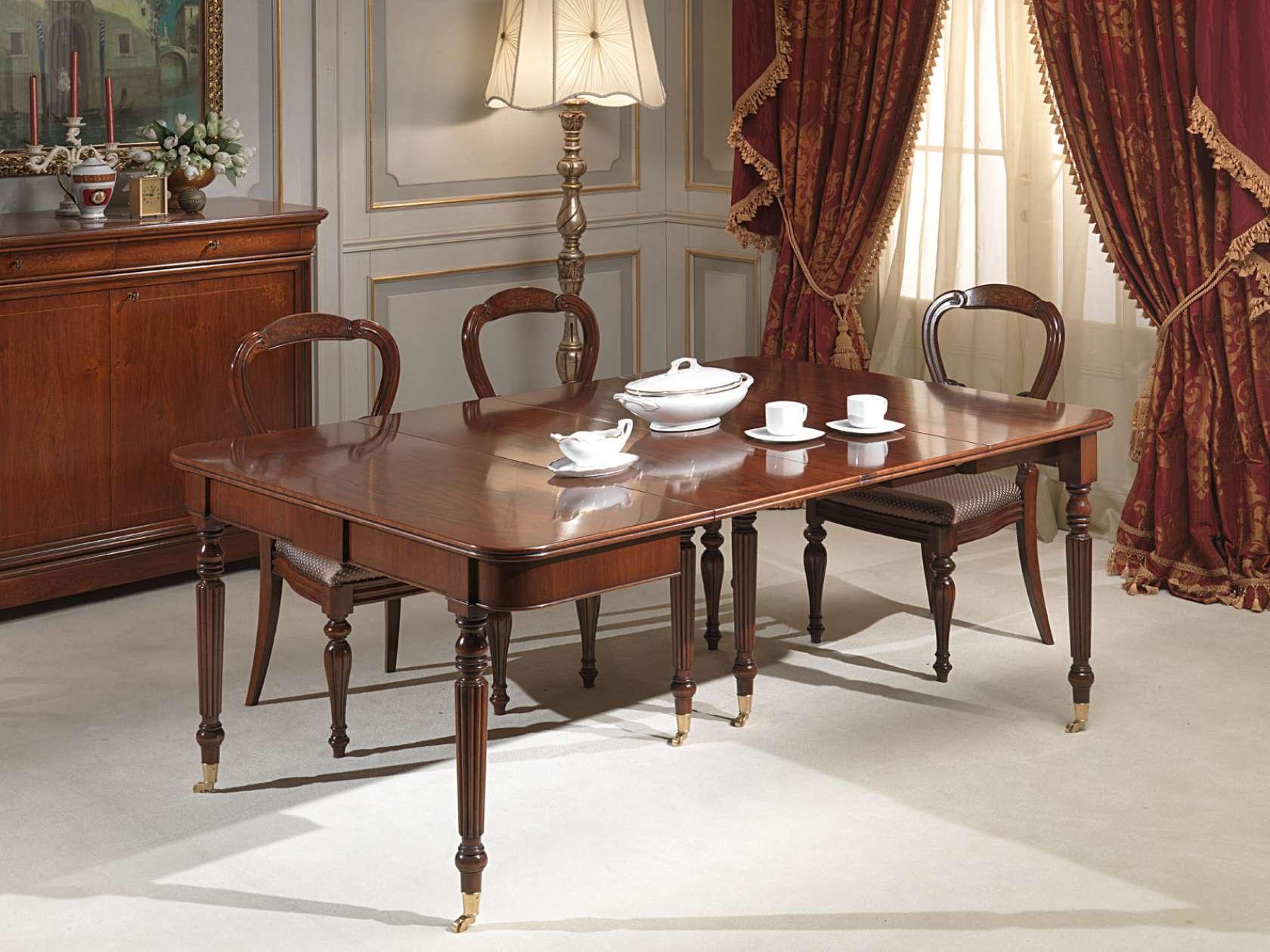 Table console extensible vimercati classic furniture for Consolle classica allungabile