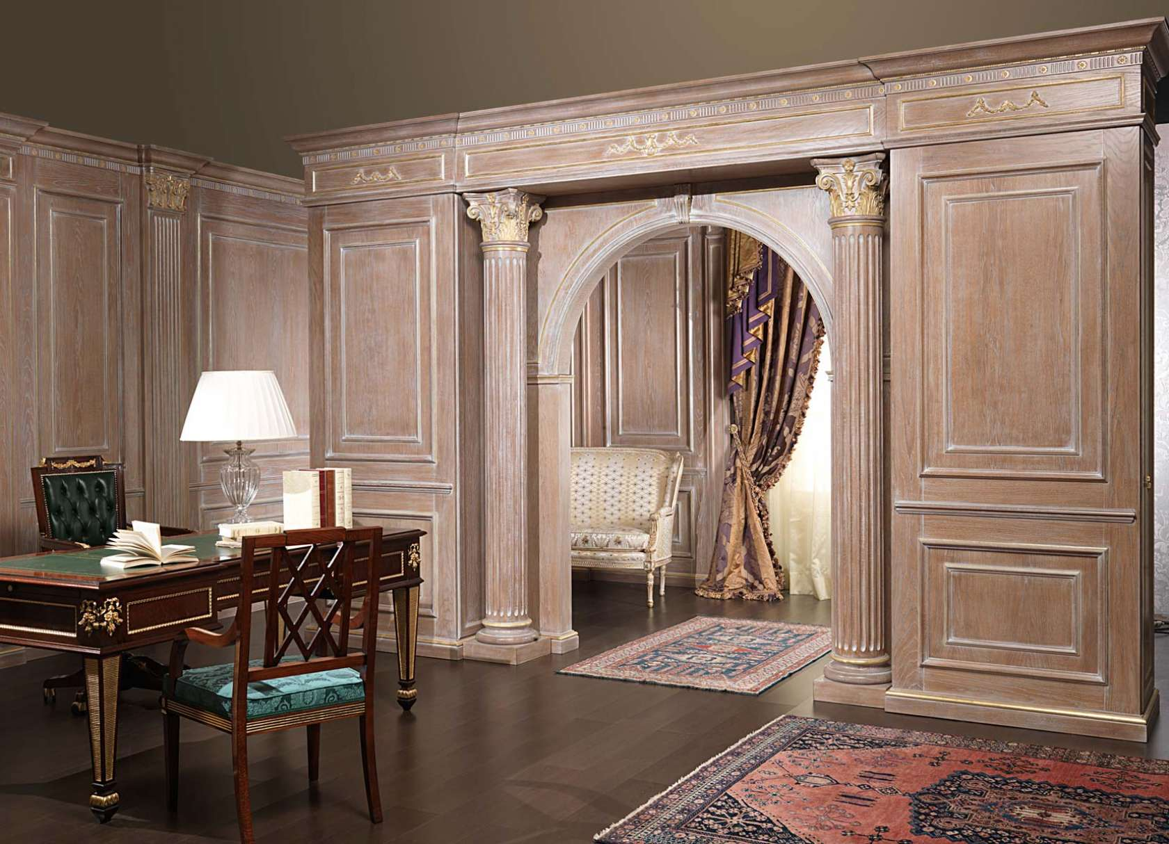Boiserie and doors on project | Vimercati Classic Furniture