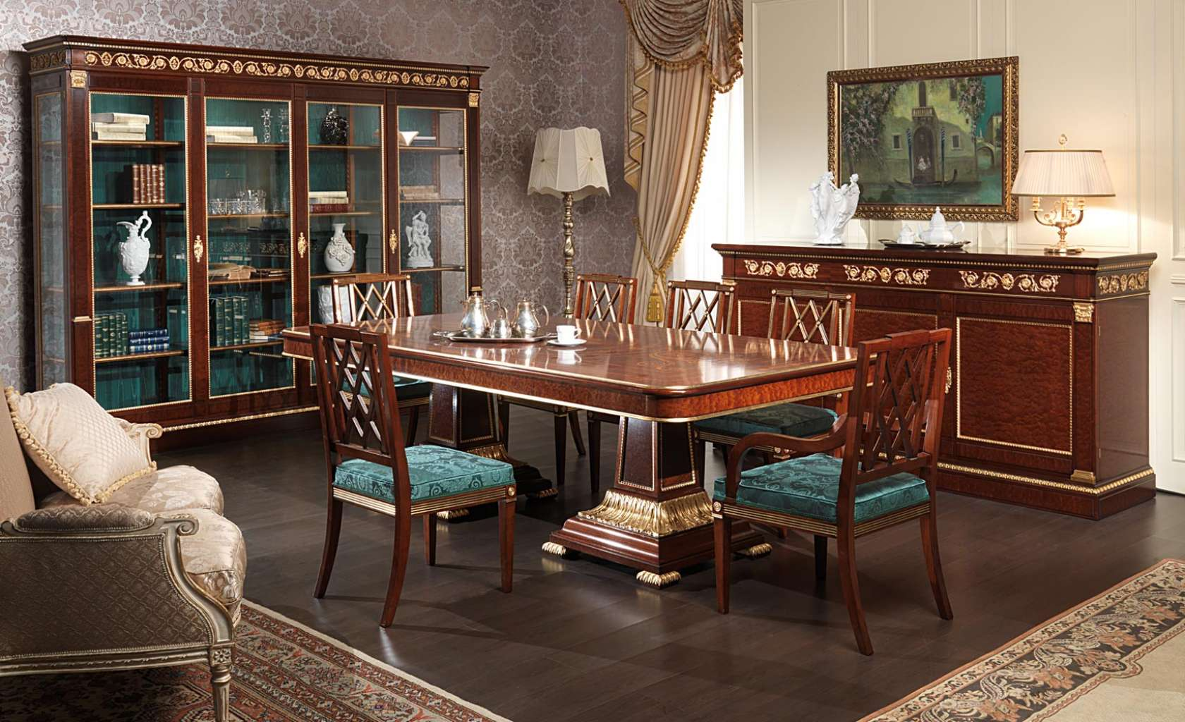 Empire style dining room ermitage vimercati classic for Classic home tables