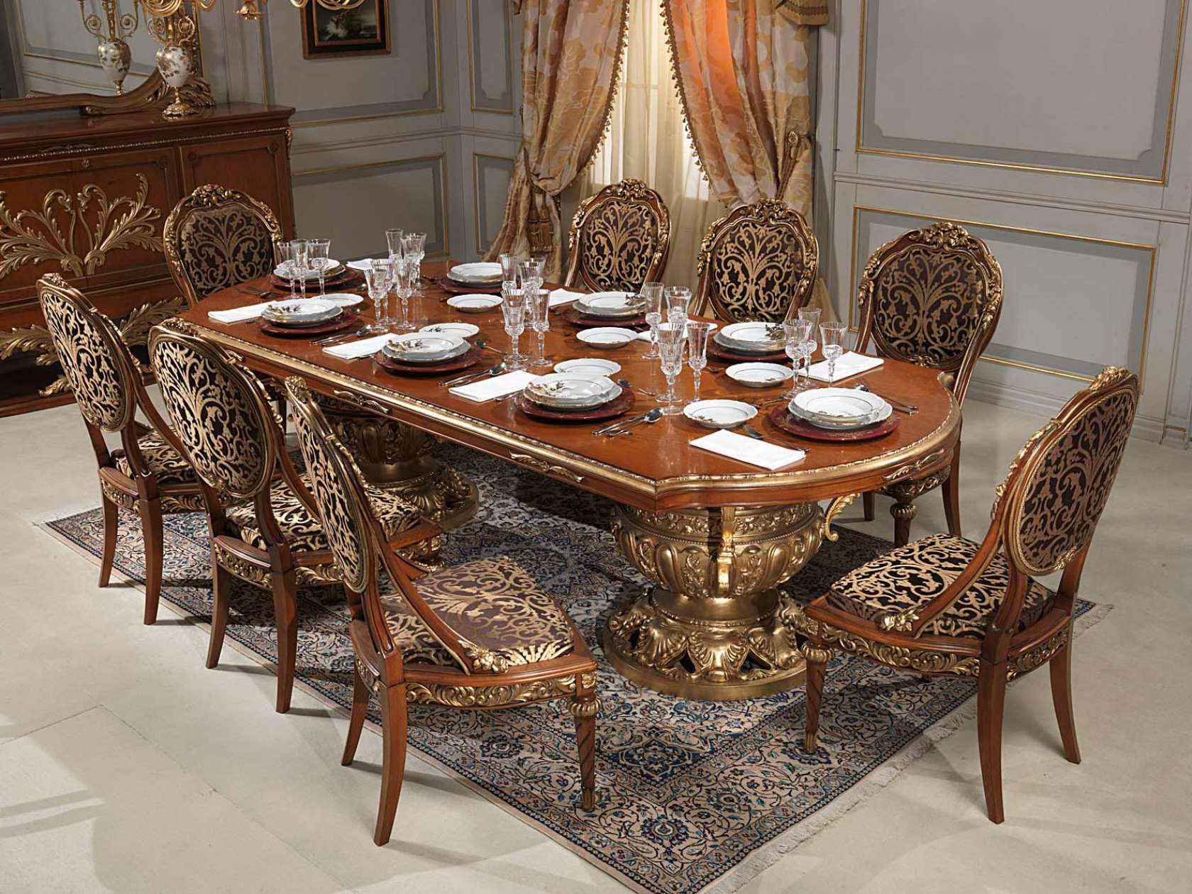 versailles dining room in louis xvi vimercati classic furniture
