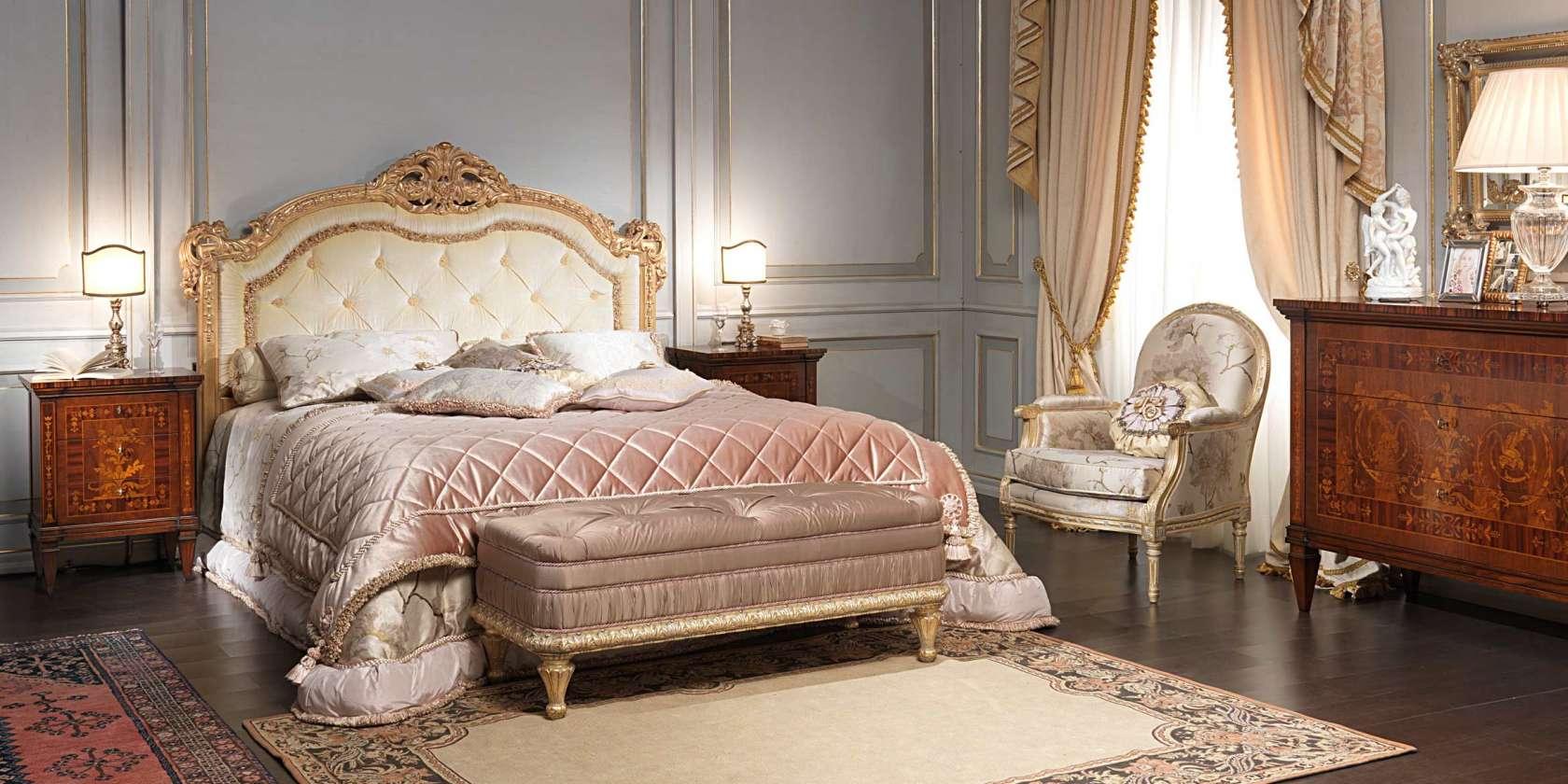 Classic maggiolini bedroom bed night tables and chest of - Camere da letto classiche ...