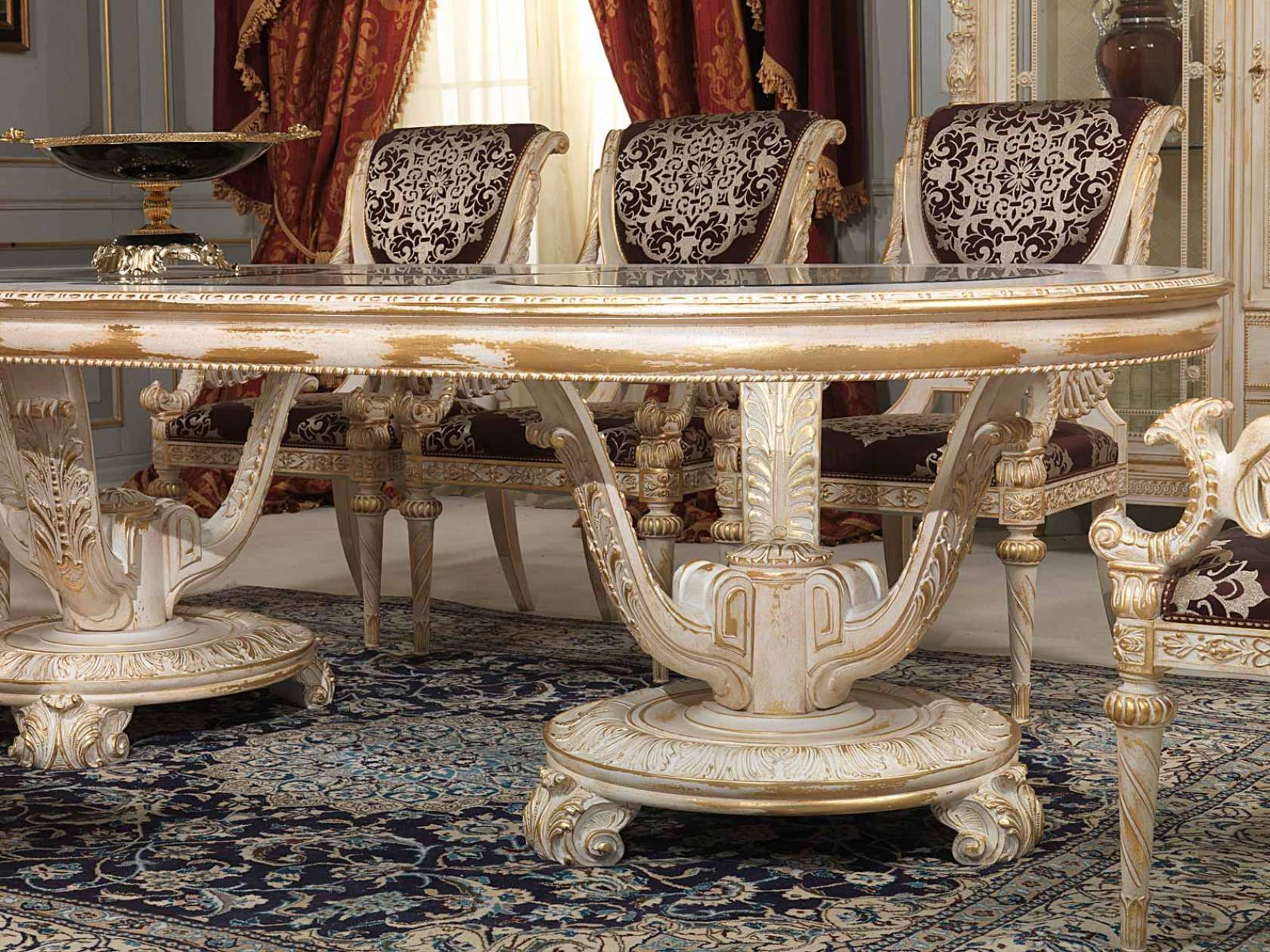 Carved Dining Room In Louis XVI Style