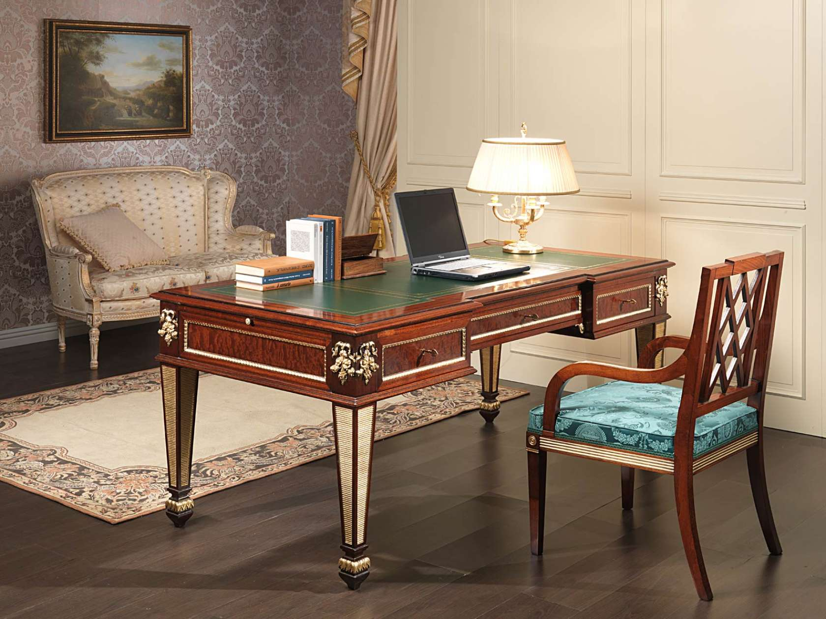 bureau classique style empire vimercati classic furniture. Black Bedroom Furniture Sets. Home Design Ideas