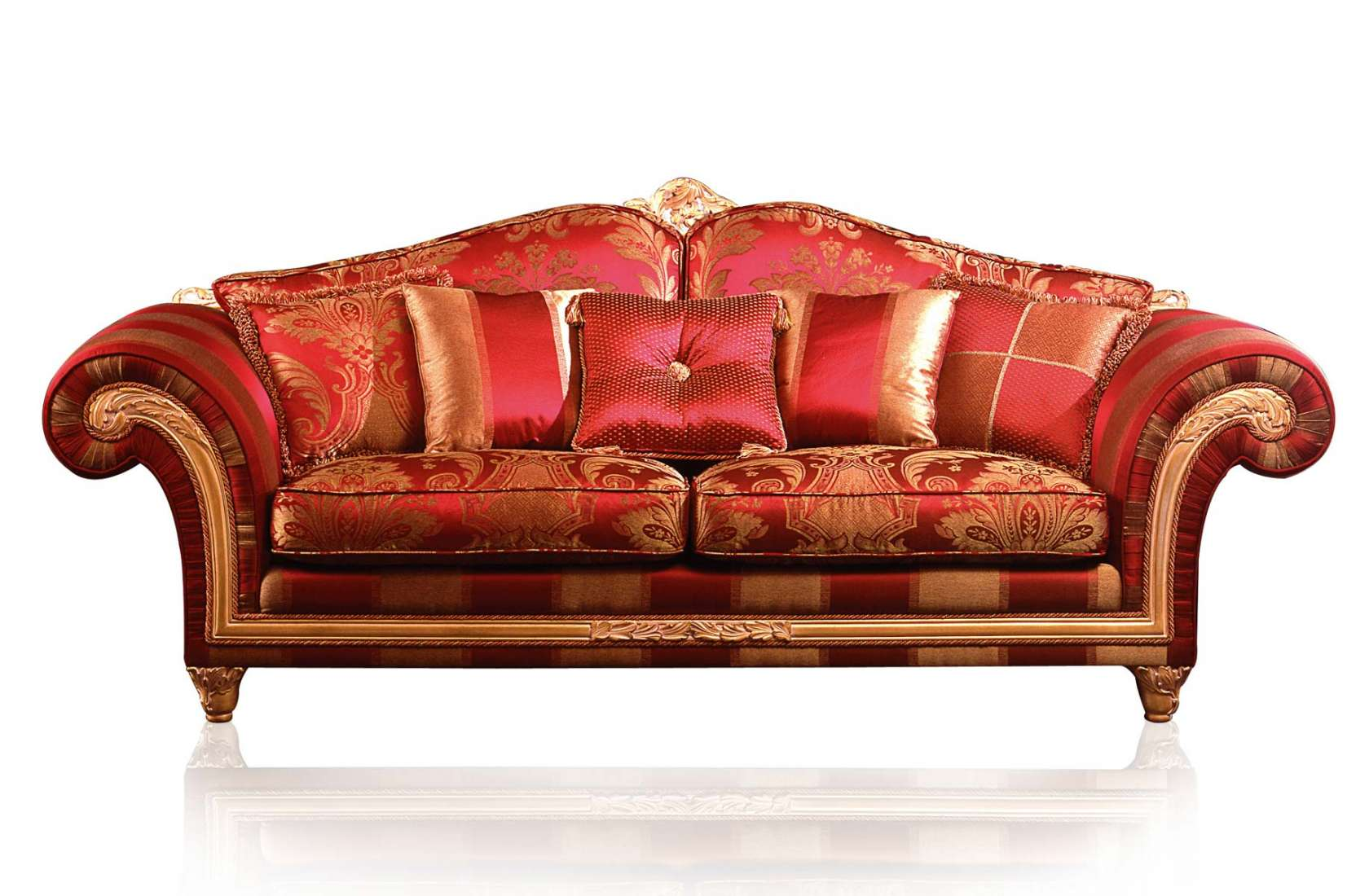 Gentil Classic Sofa Imperial In Red Fabric