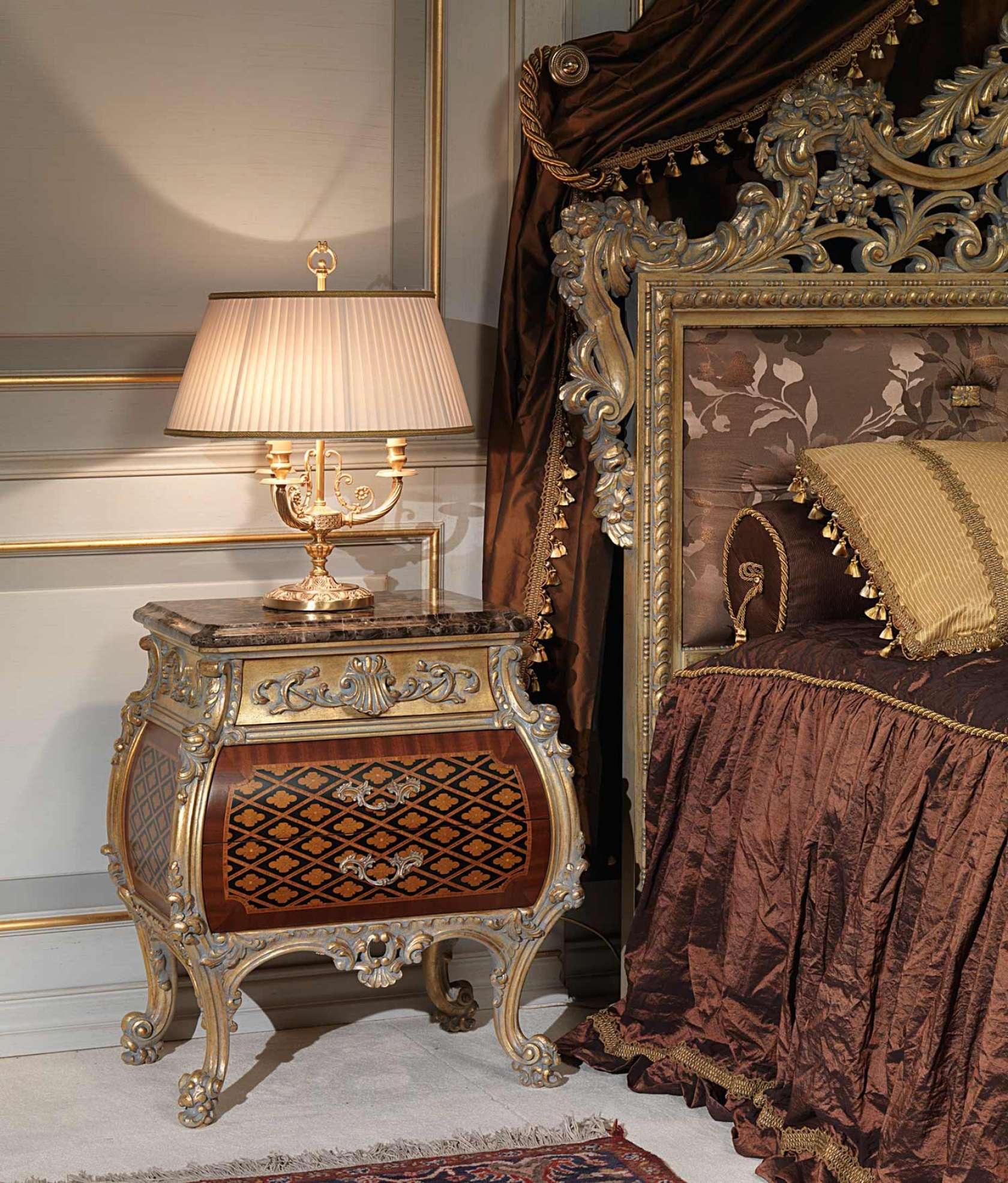 Chambre coucher classique emperador gold dans le style for Style de chambre a coucher