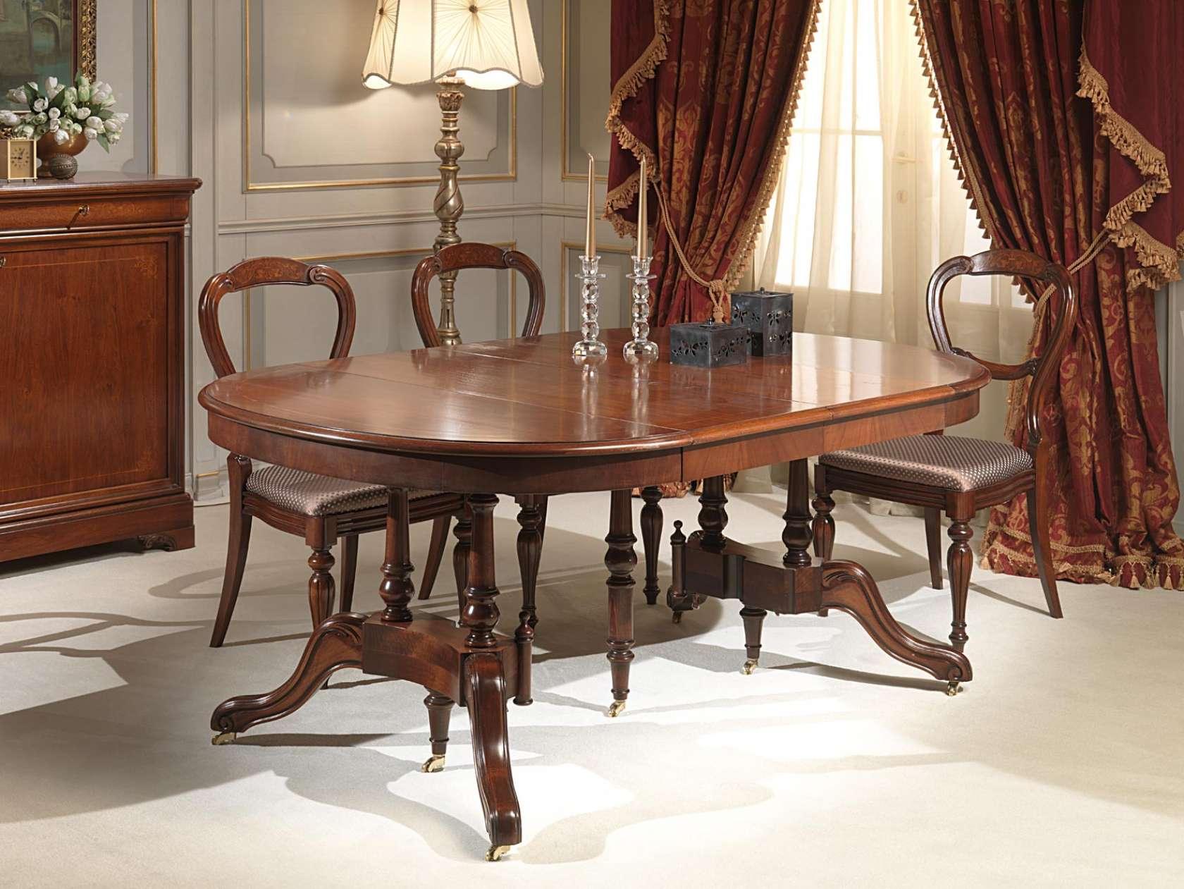 Tavoli Da Cucina Allungabili Classici.Classic Extendable Tables And Console Vimercati Classic Furniture
