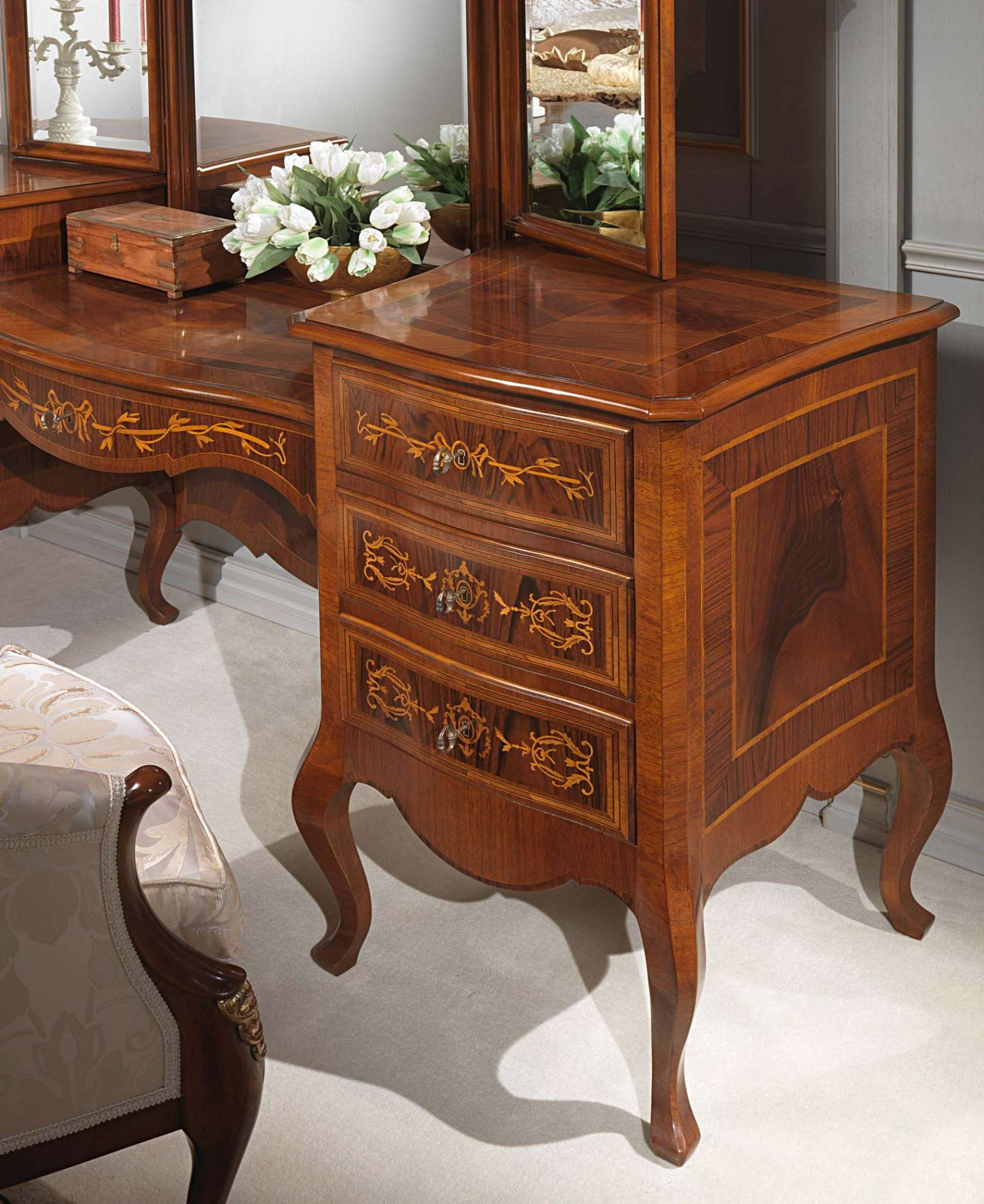 Classic Louvre Bedroom, Inlaid Dressing Table