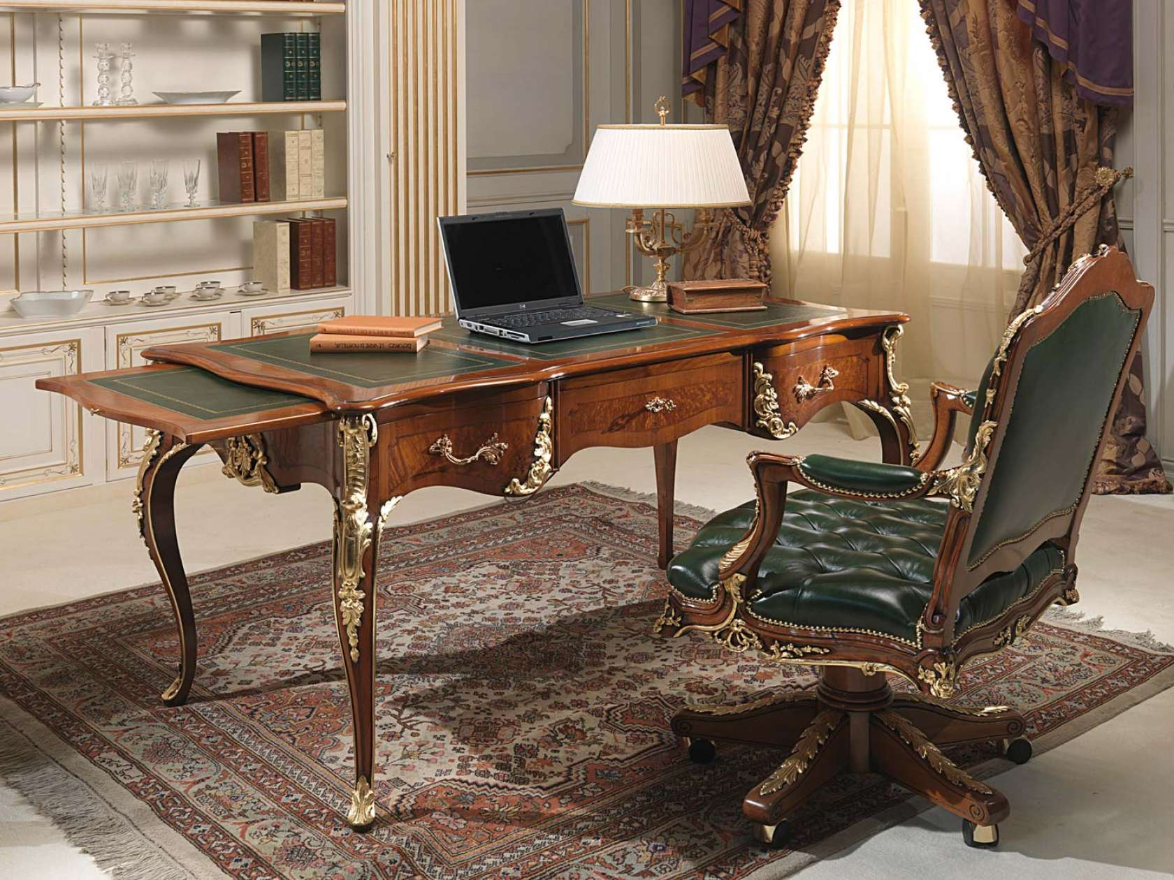 bureau classique style louis xv vimercati classic furniture. Black Bedroom Furniture Sets. Home Design Ideas