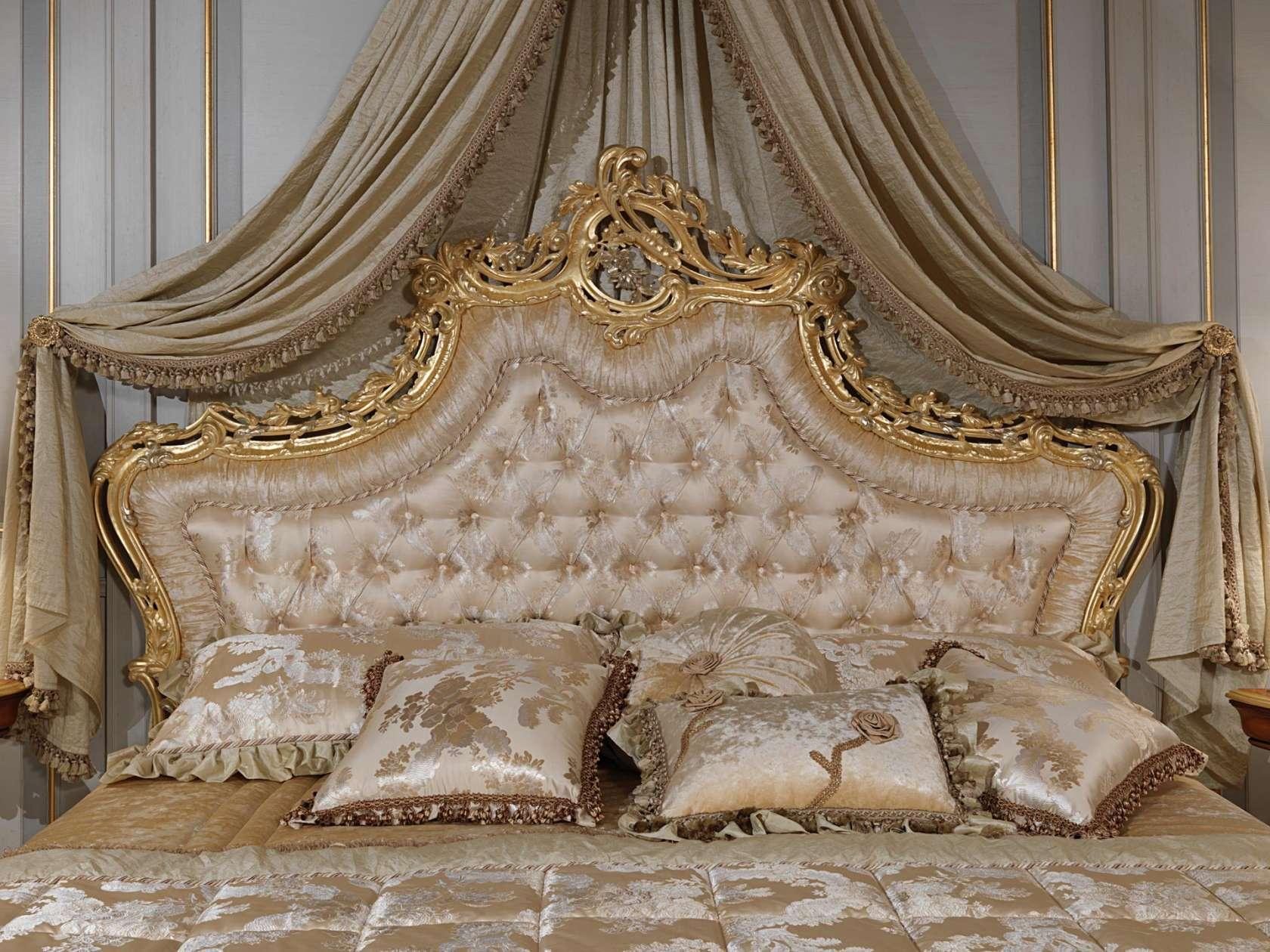 Lit Avec Tete De Lit Matelassé bed with capitonné headboard   vimercati classic furniture