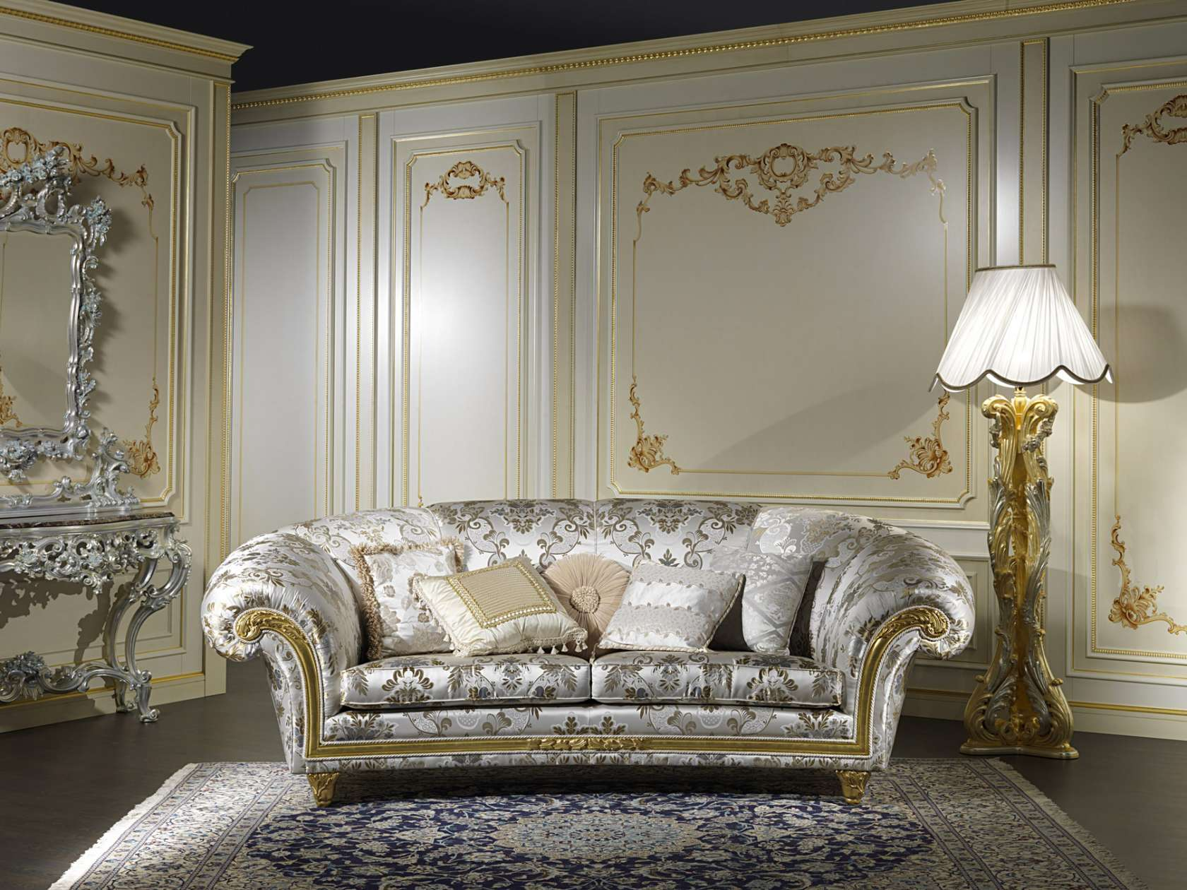 Furniture for a living room in classic style palace