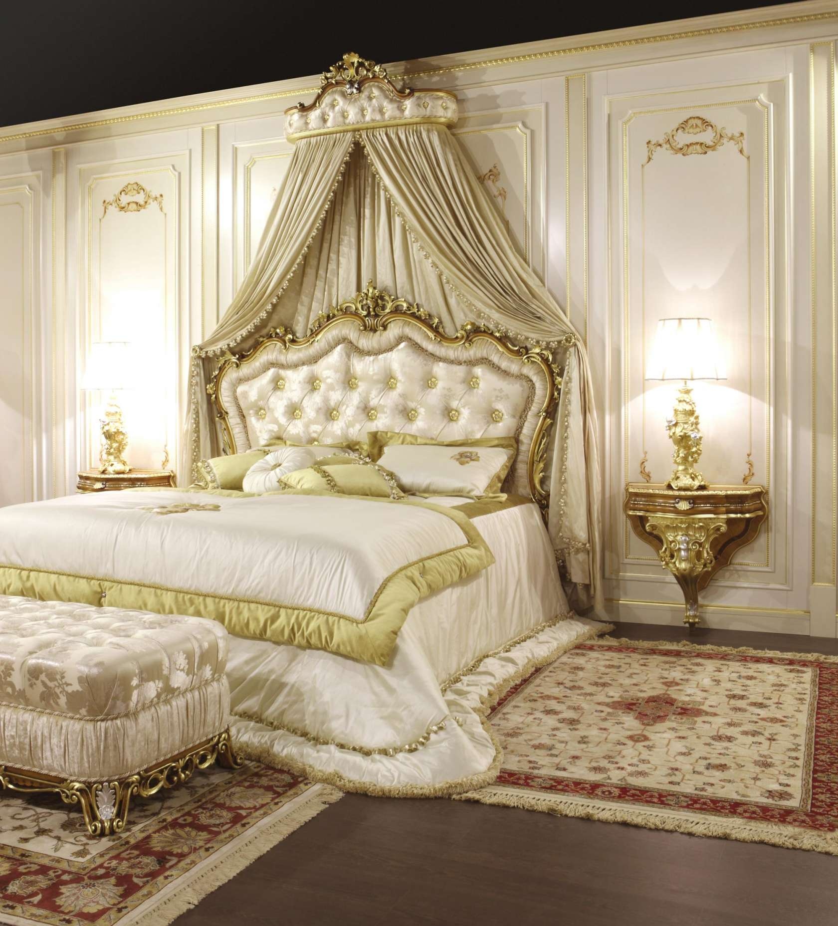 Modern baroque bedroom furniture for Designer inspired bedding