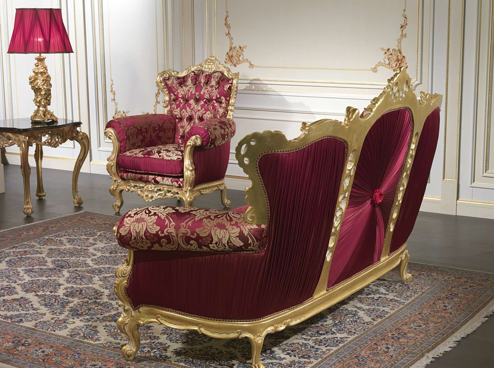 Luxury baroque sofa collection living room barocco for Baroque living room furniture