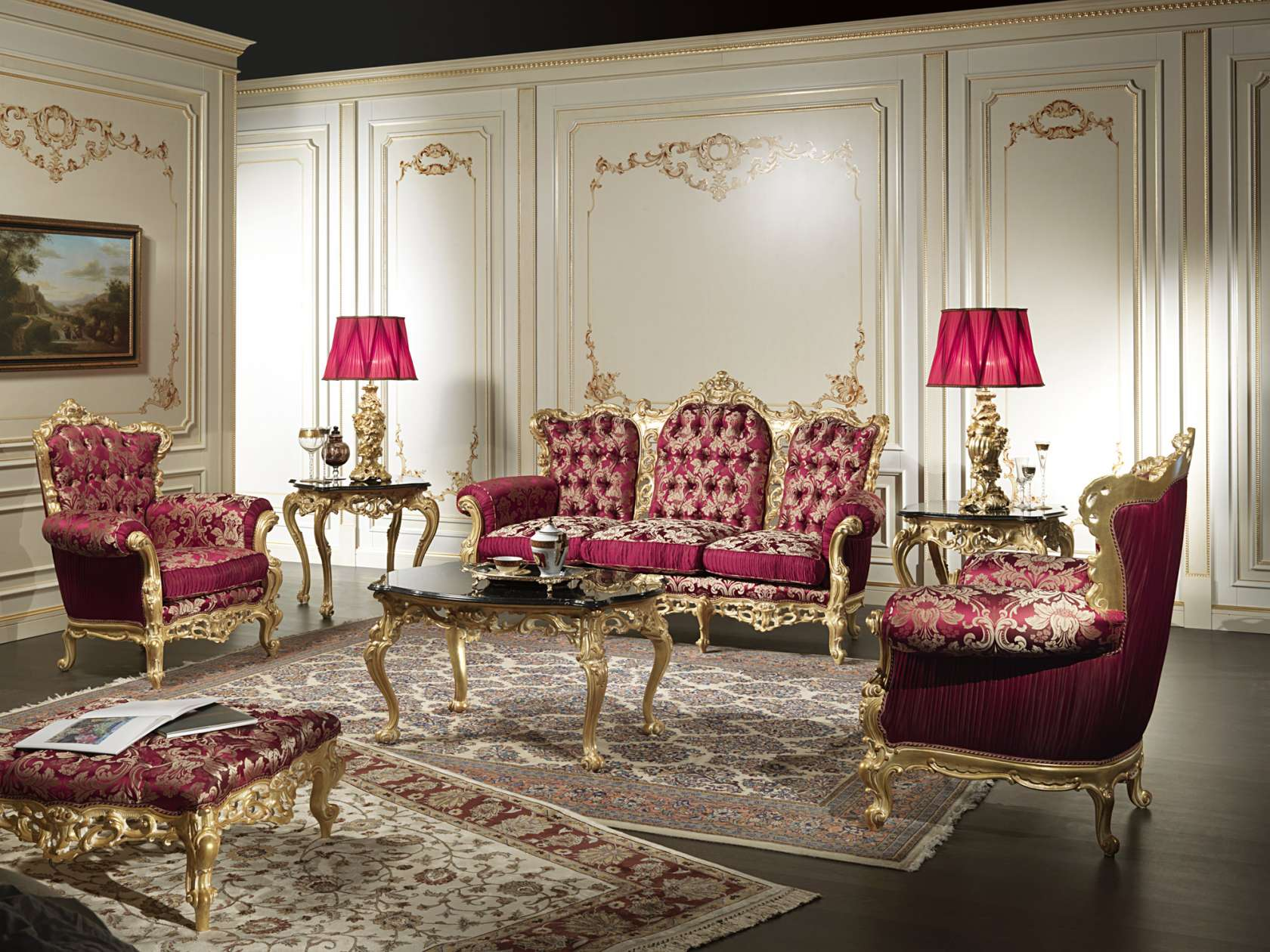 Carved And Gilded Luxury Classic Living Room Barocco