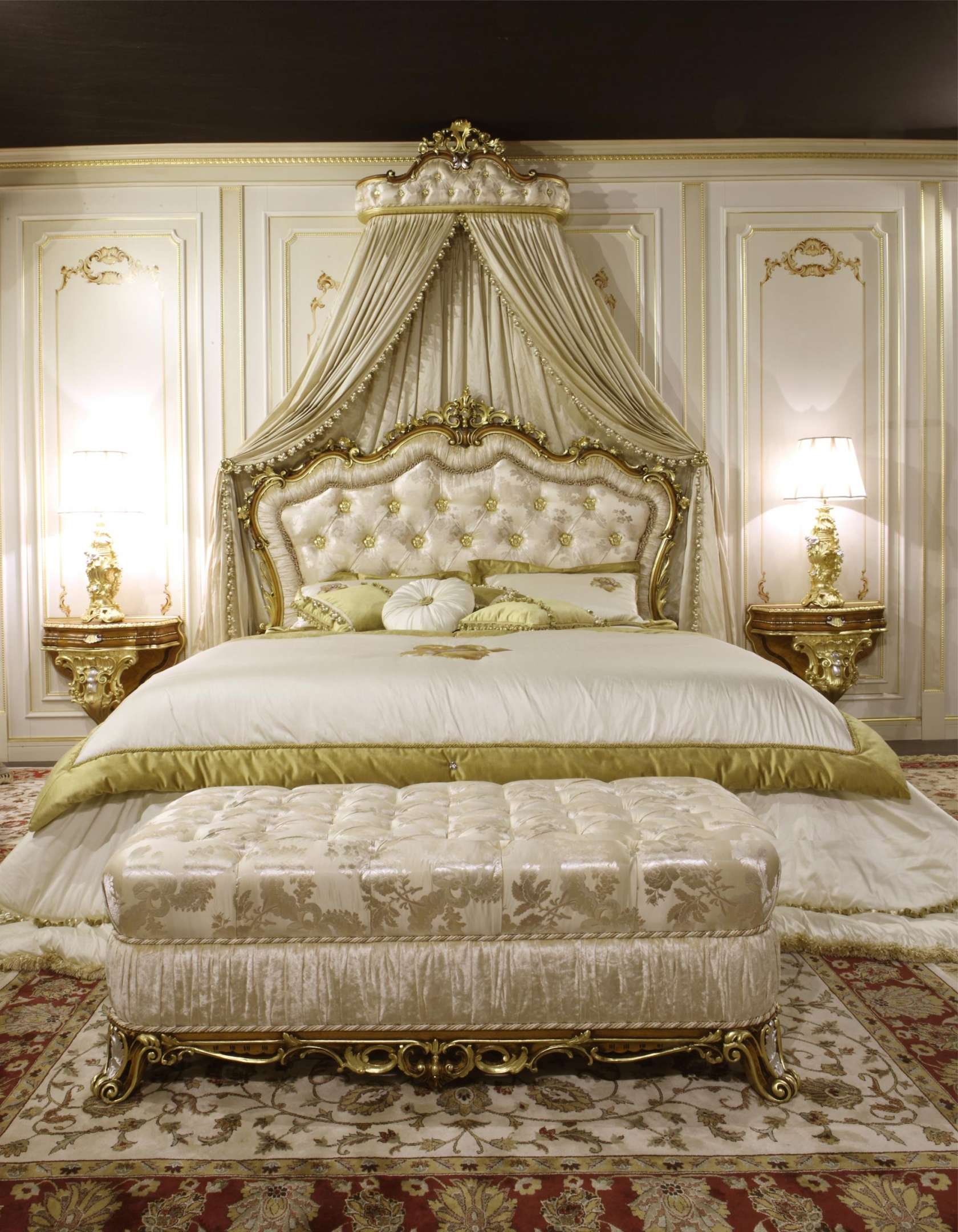 classic bench and baroque bed art. 2013 | vimercati classic furniture