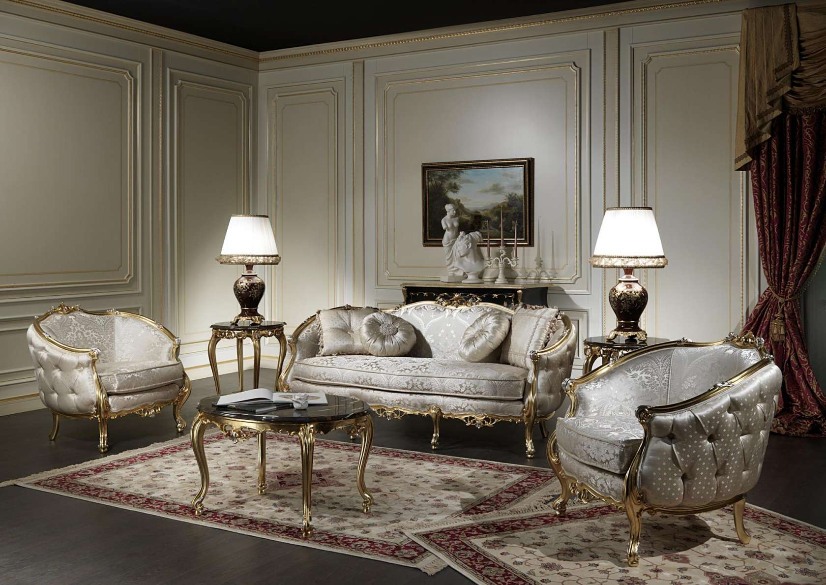 Classic living room made in Italy Venezia | Vimercati ...
