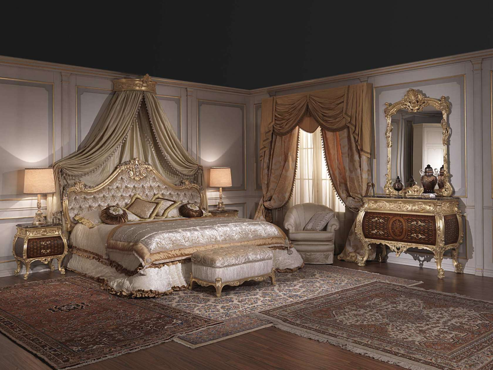 Luxury bedroom furniture European Furniture For Luxury Bedroom Emperador Gold Art 397931 Vimercati Classic Furniture Furniture For Luxury Bedroom Emperador Gold Art 397931 Vimercati
