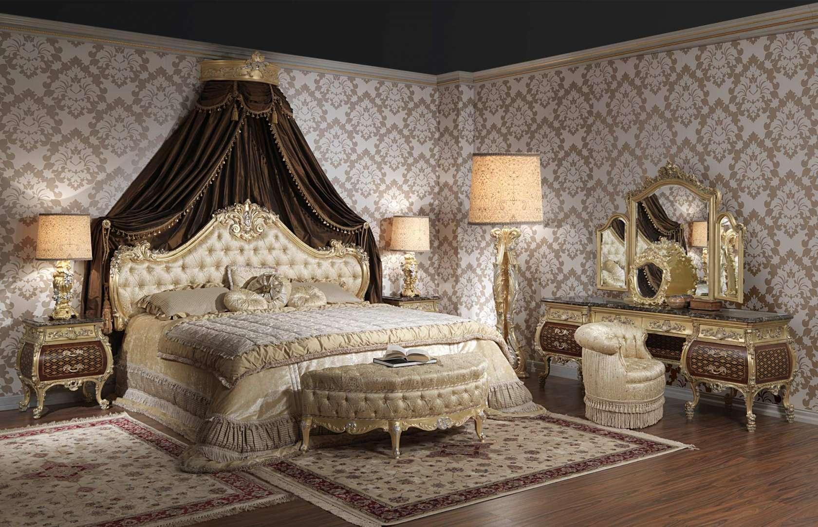 Luxurious Bedroom Furniture Luxury Bedroom Emperador Gold 397 931 Vimercati Classic Furniture