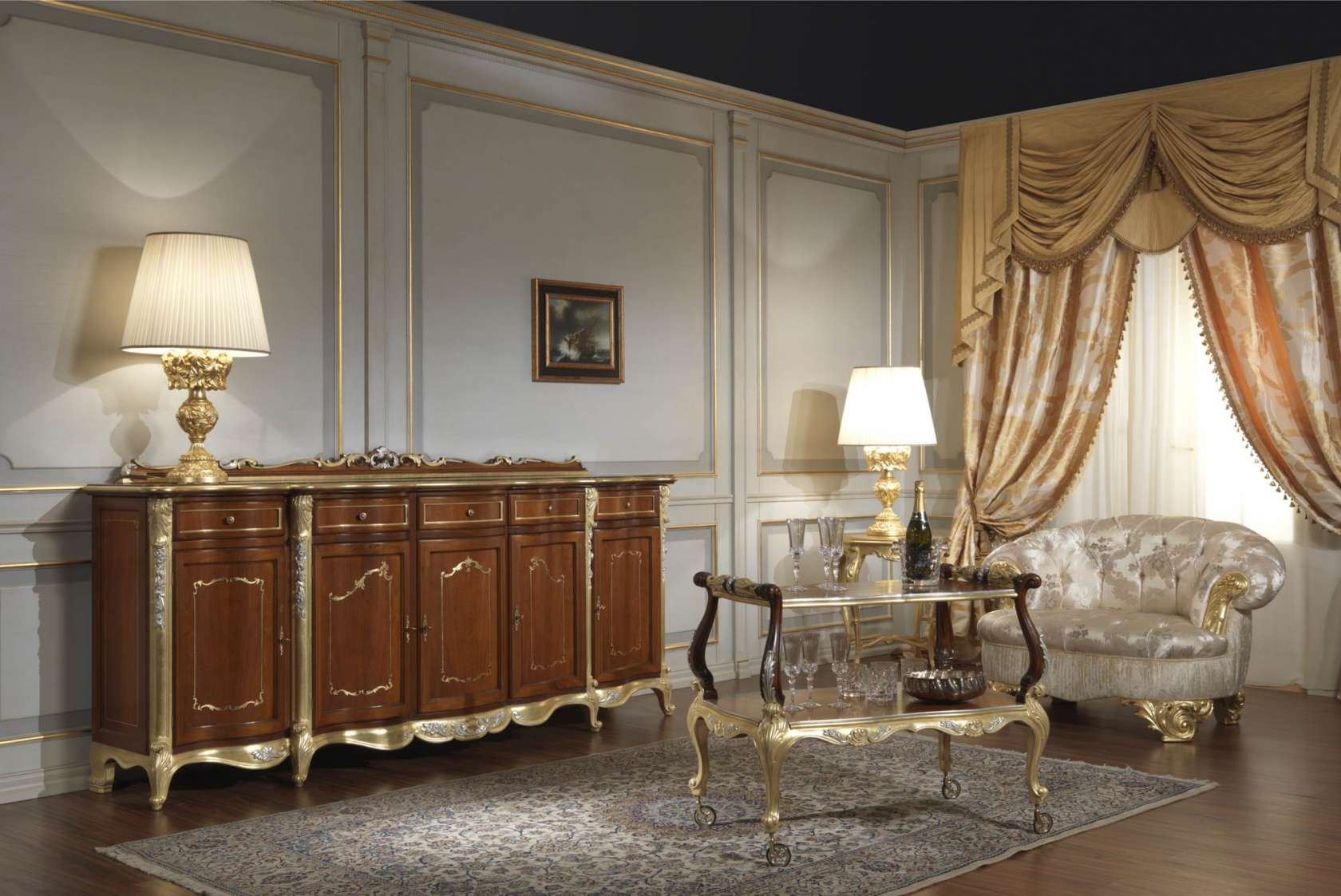 Soggiorno In Stile Classico.Sala In Stile Classico Luigi Xv Vimercati Classic Furniture