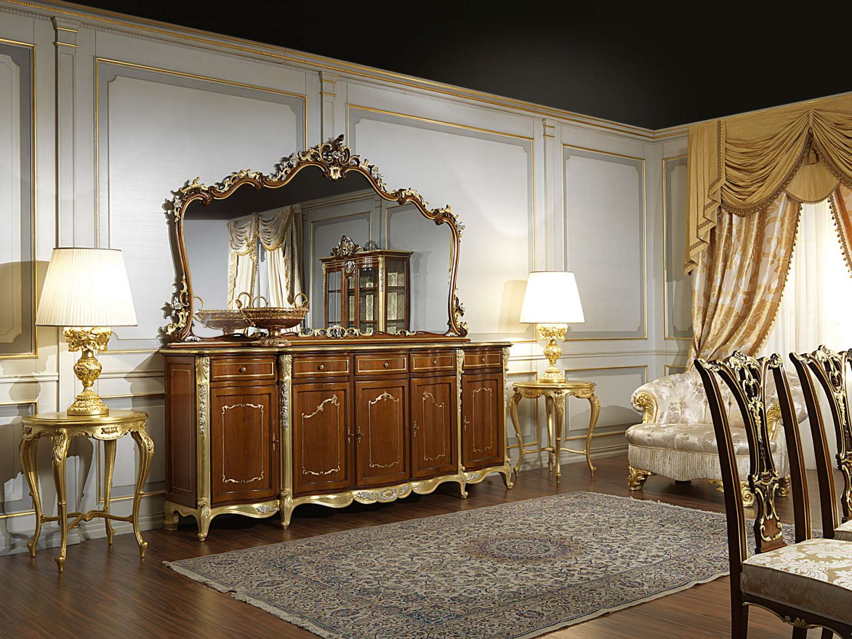 Credenza classica sala da pranzo in stile Luigi XV | Vimercati ...