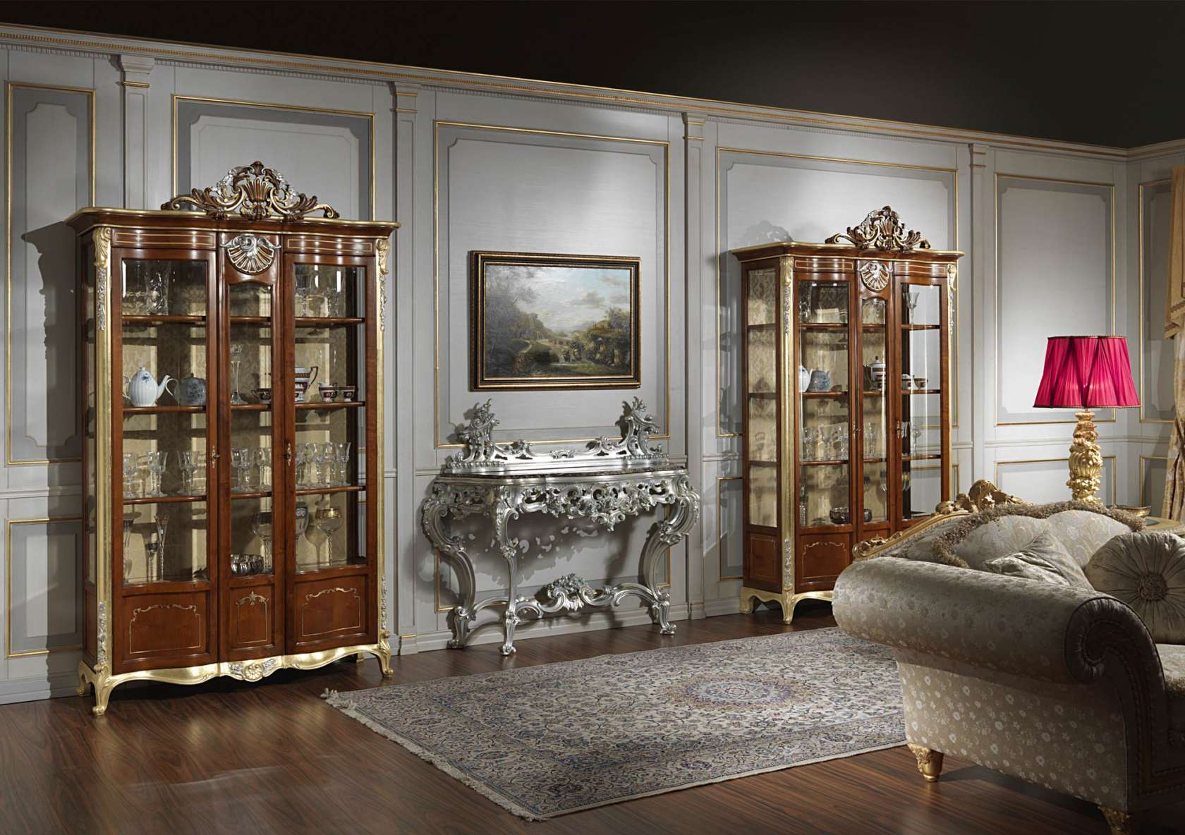 Mobile vetrina per soggiorno in stile classico | Vimercati Classic ...