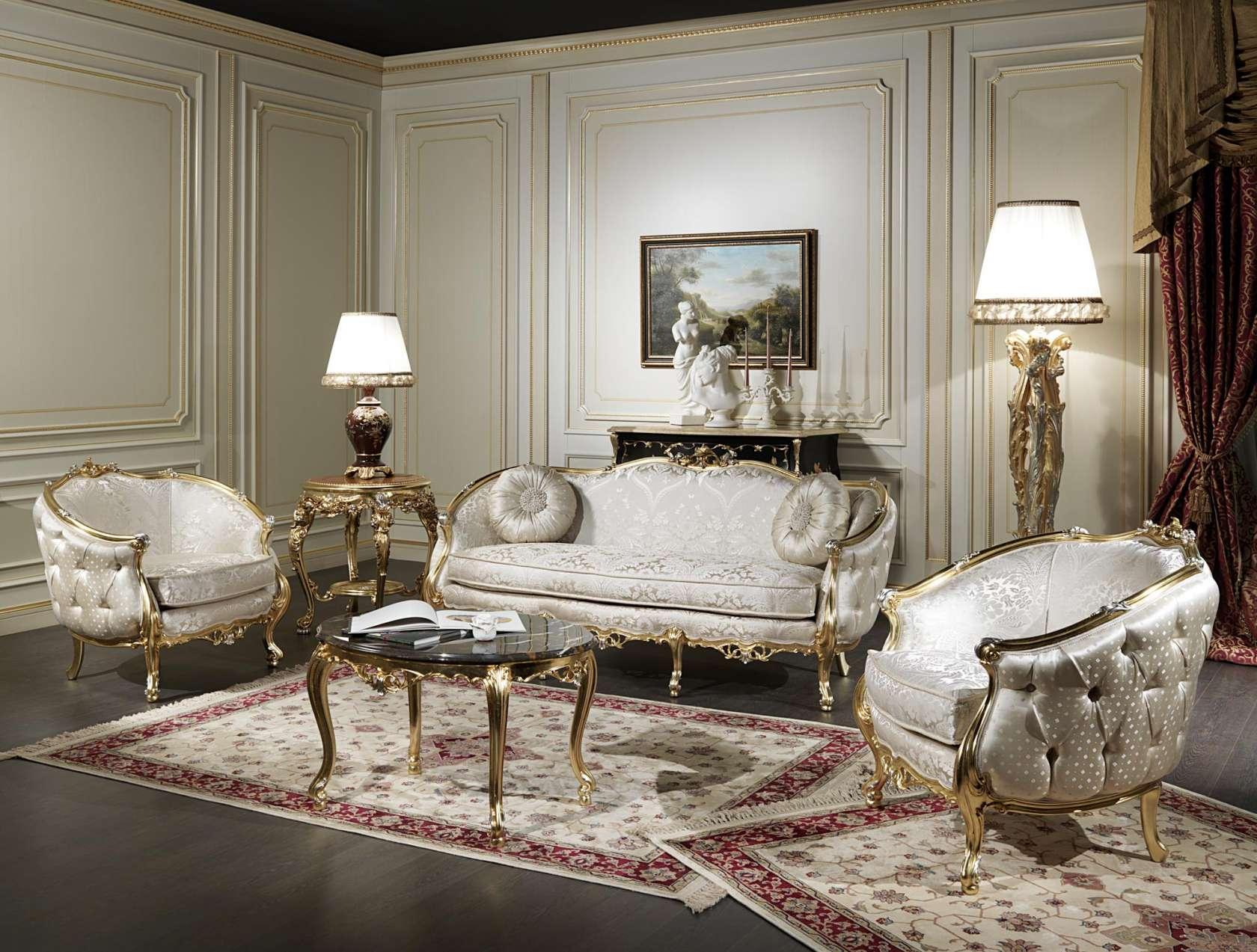 Venezia Luxury Classic Living Room Part 55