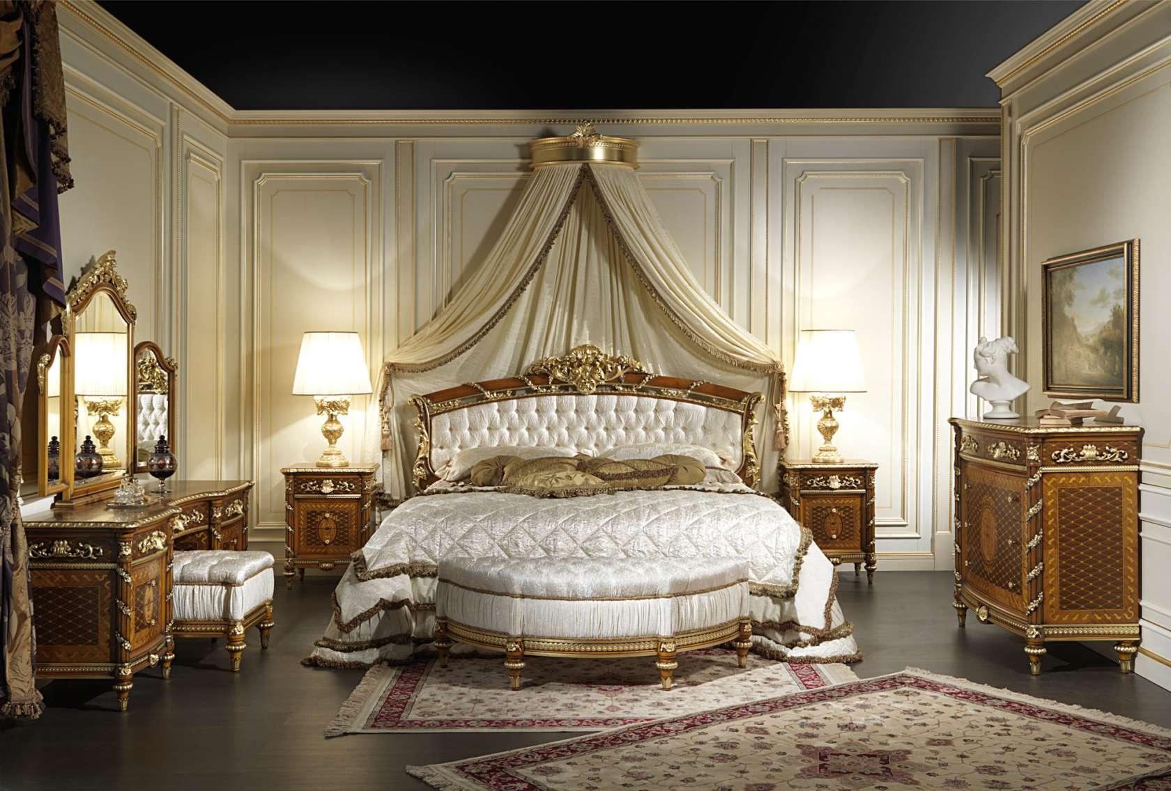 Chambre à coucher en noyer Louis XVI noyer et marqueterie art.2011 ...