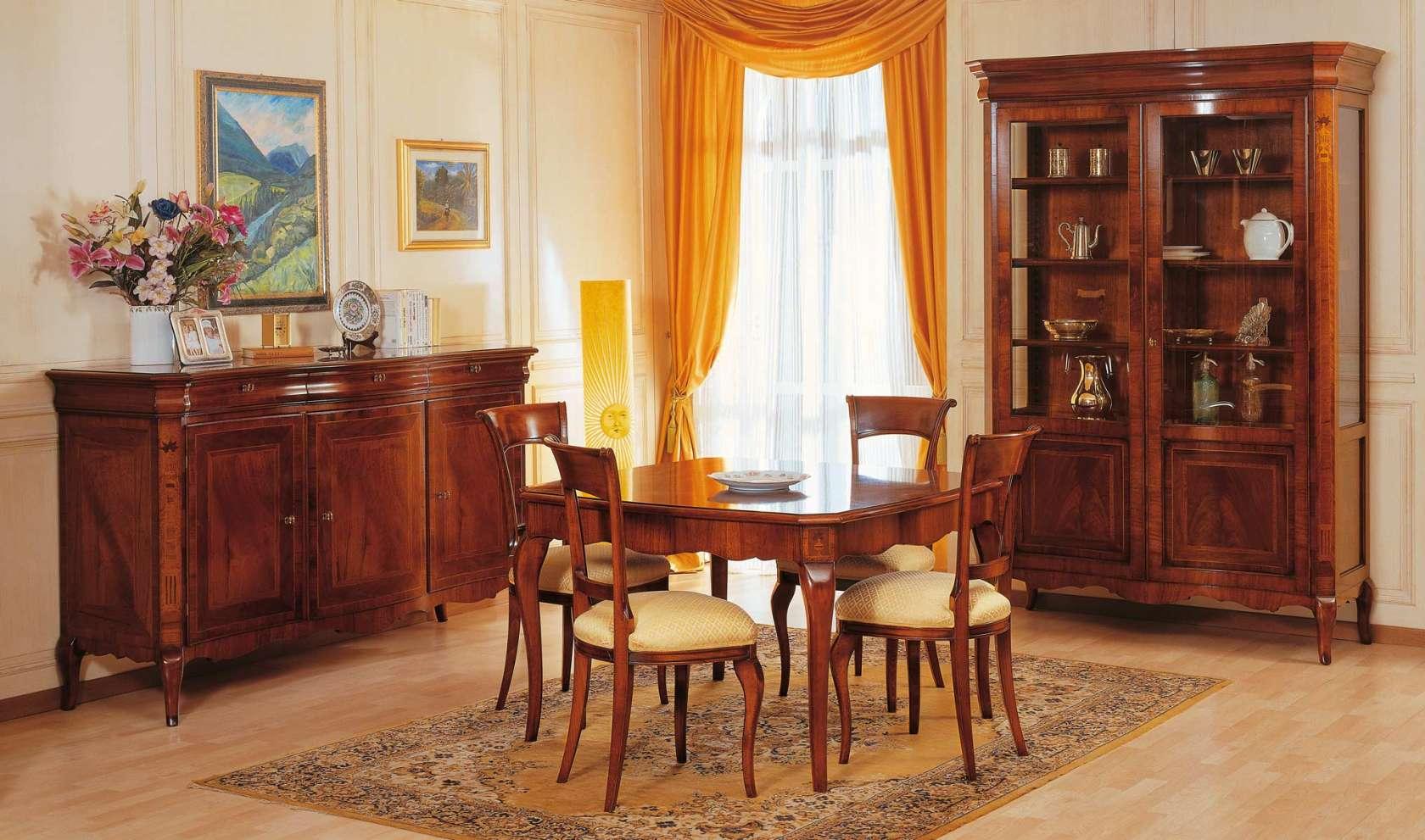 Mobili classici sala da pranzo 800 francese vimercati for Mobili classici