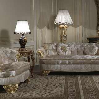 Luxury upholstered classic sofas