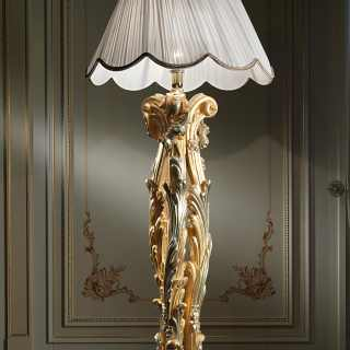 Luxury floor lamp in baroque style